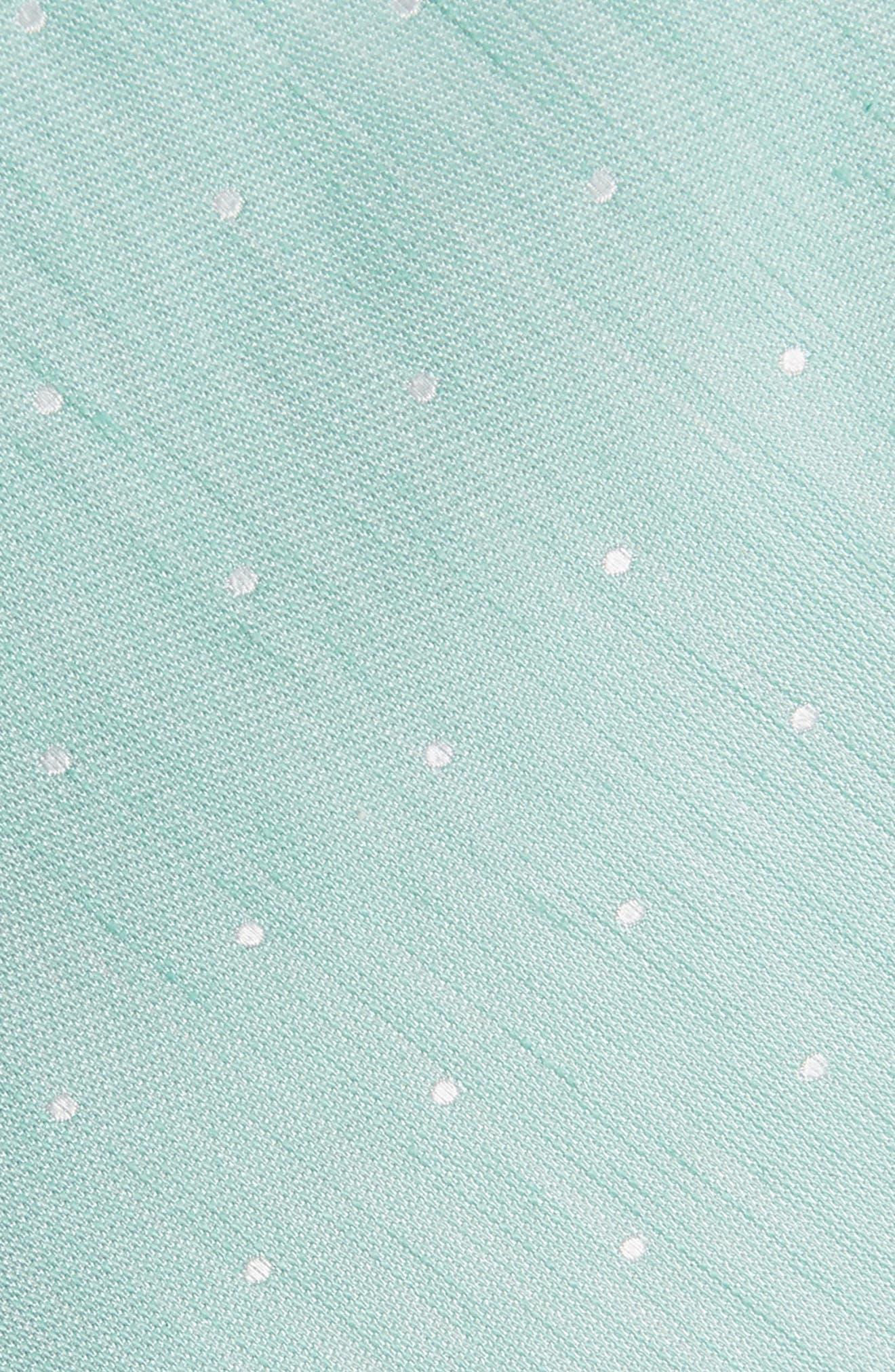 THE TIE BAR,                             Dot Silk & Linen Tie,                             Alternate thumbnail 2, color,                             300