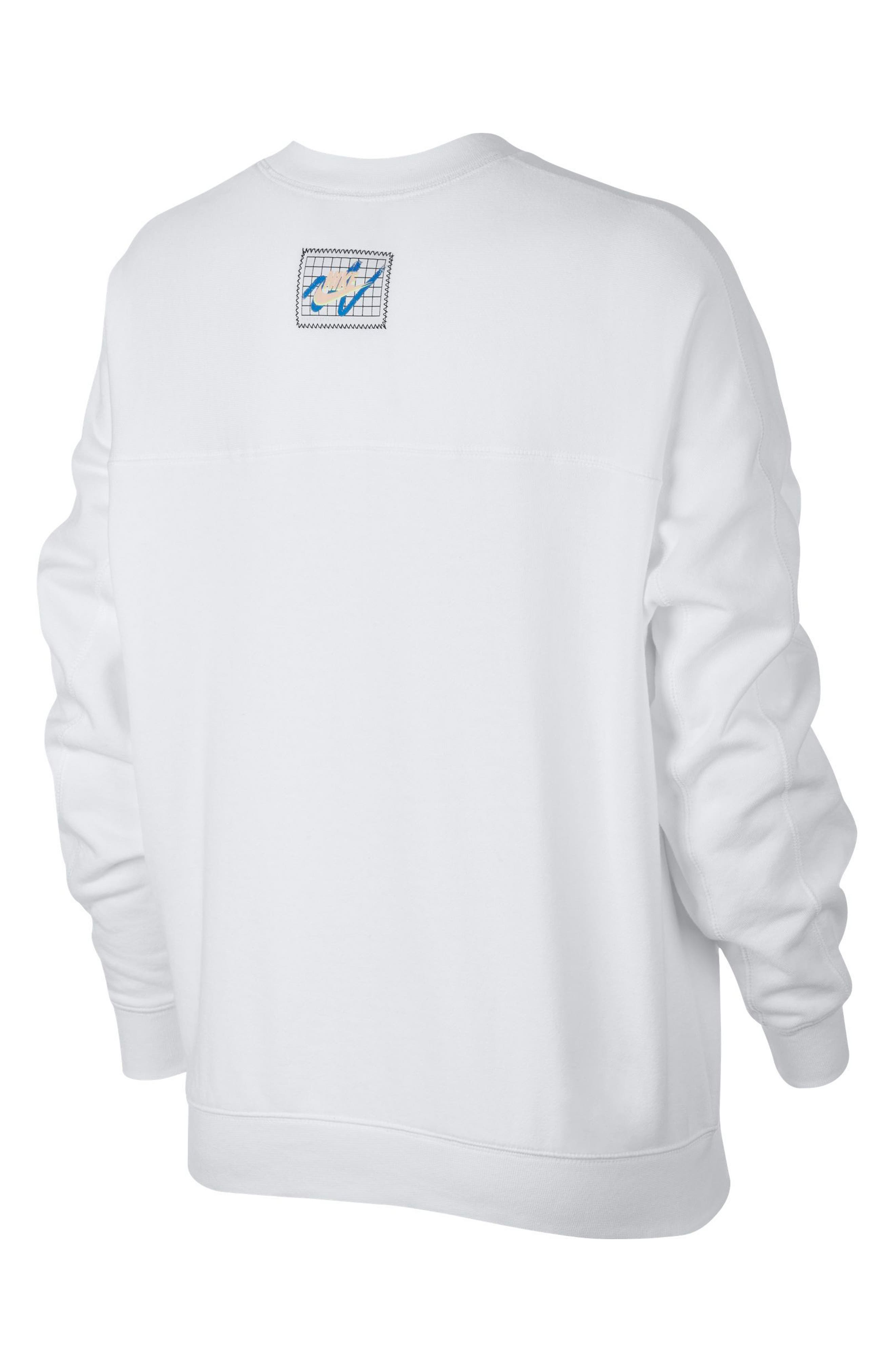 Sportswear Archive Women's Long Sleeve Crewneck Tee,                             Alternate thumbnail 2, color,                             WHITE/ WHITE/ WHITE