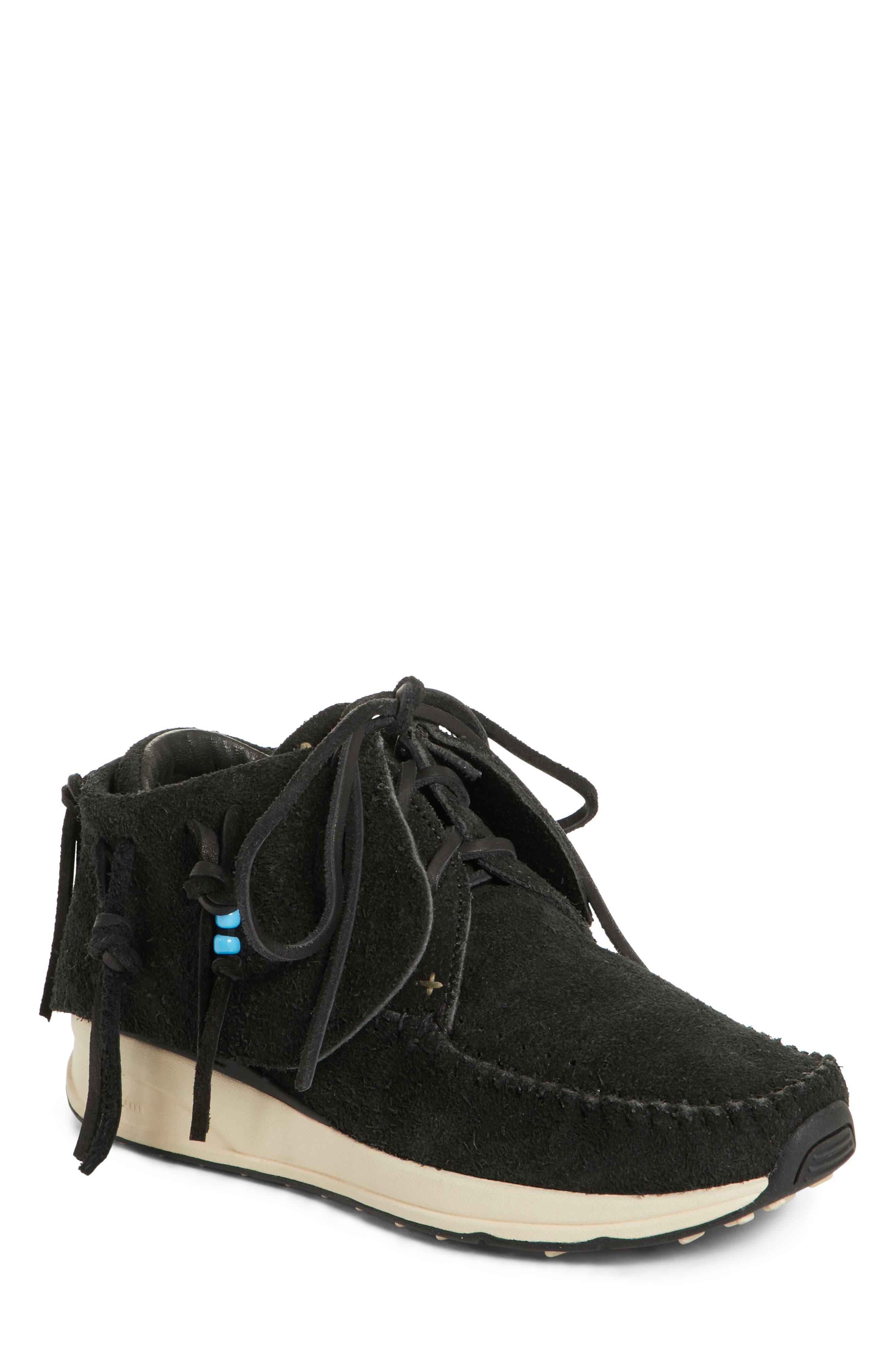 FBT Suede Moccasin Sneaker,                             Main thumbnail 1, color,                             003