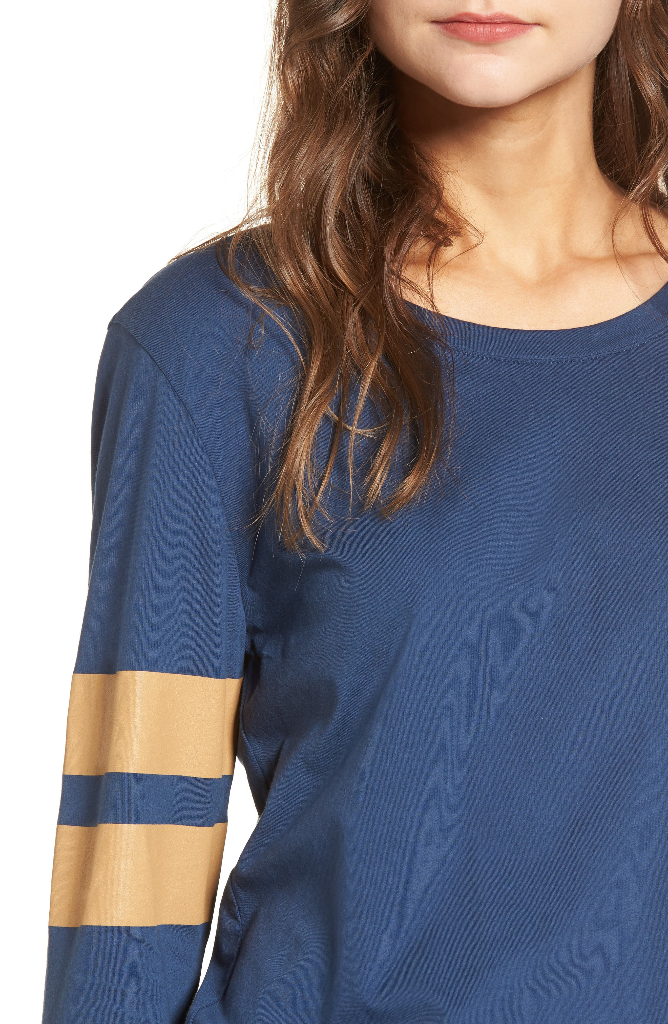 Varsity Stripe Cotton Tee,                             Alternate thumbnail 76, color,