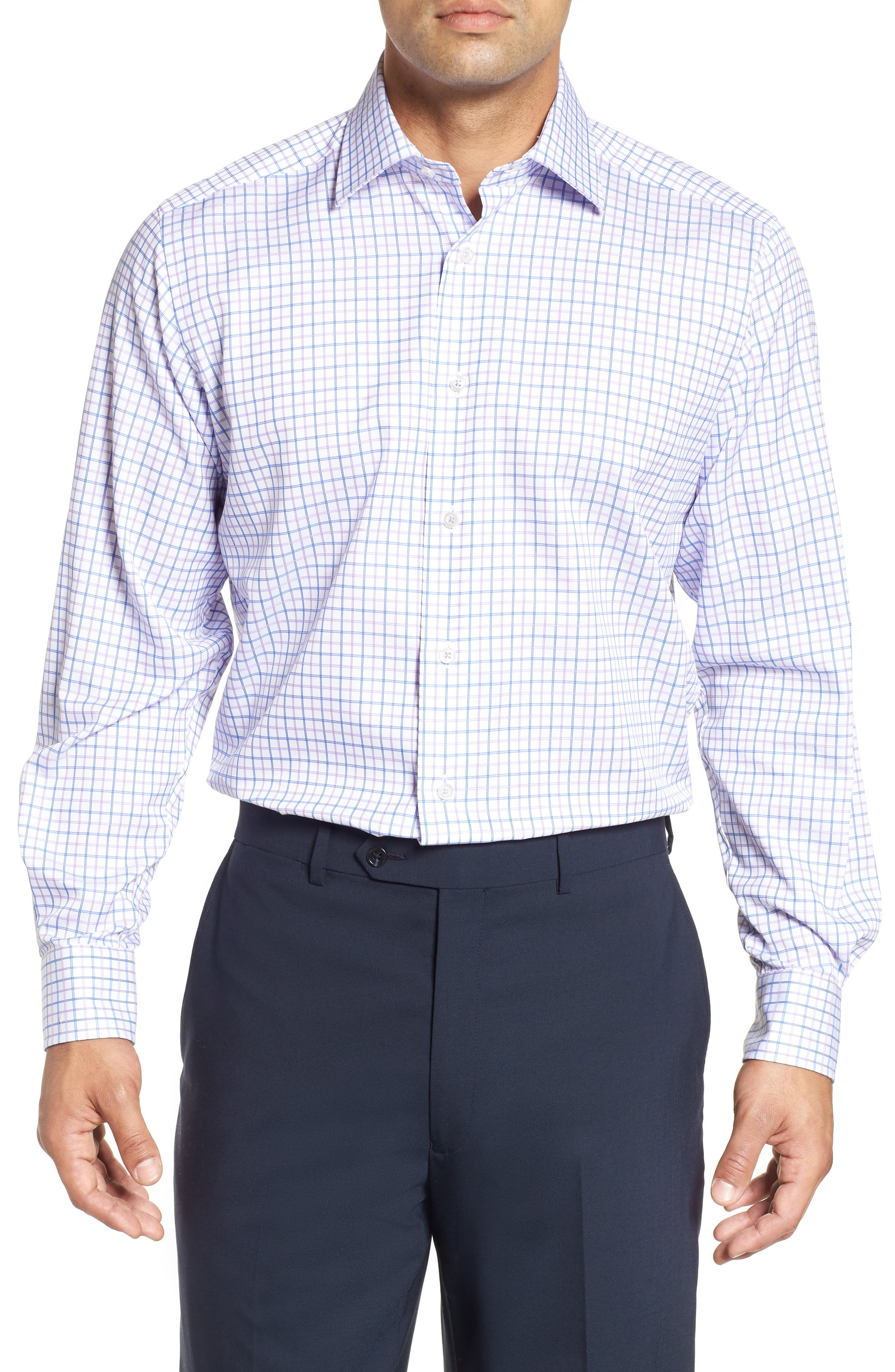 Regular Fit Check Dress Shirt,                         Main,                         color, 534
