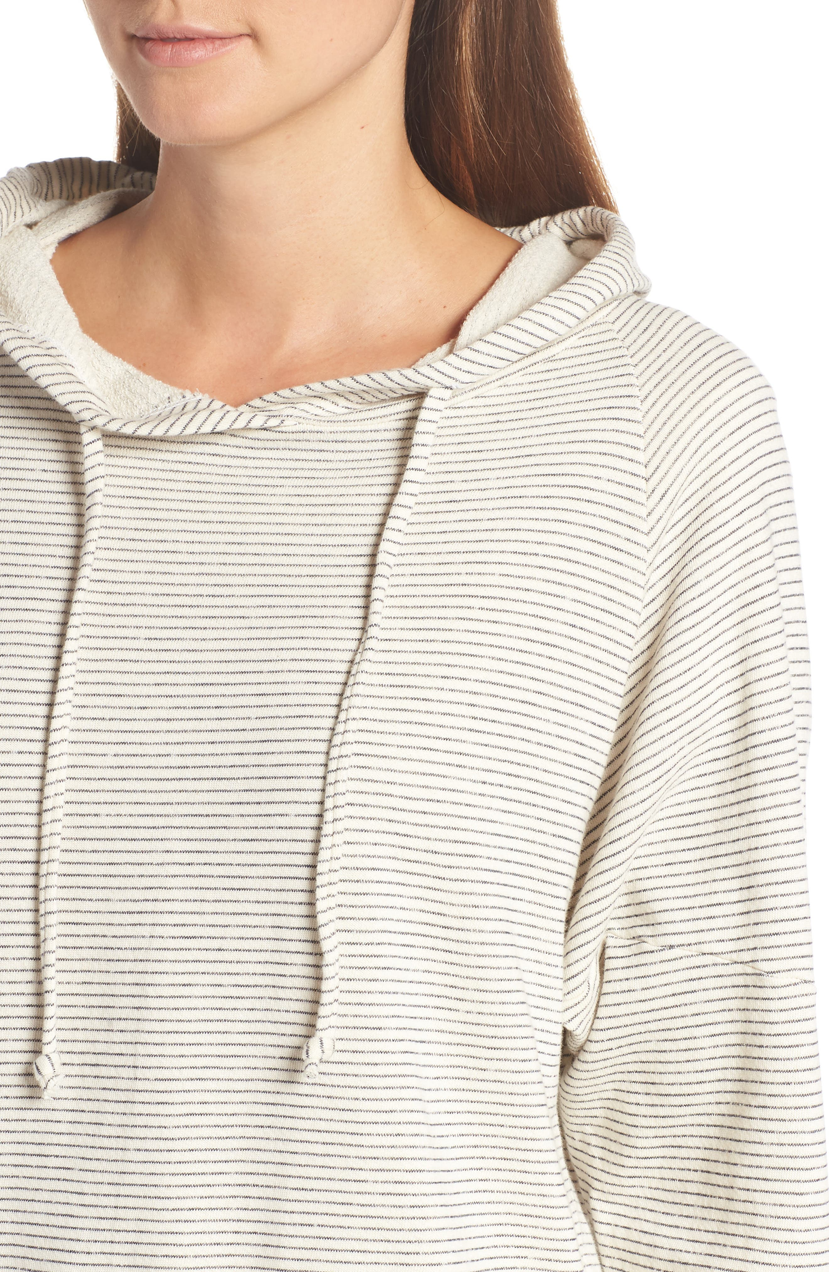 Apparel Atwater Stripe Hoodie,                             Alternate thumbnail 4, color,                             NATURAL