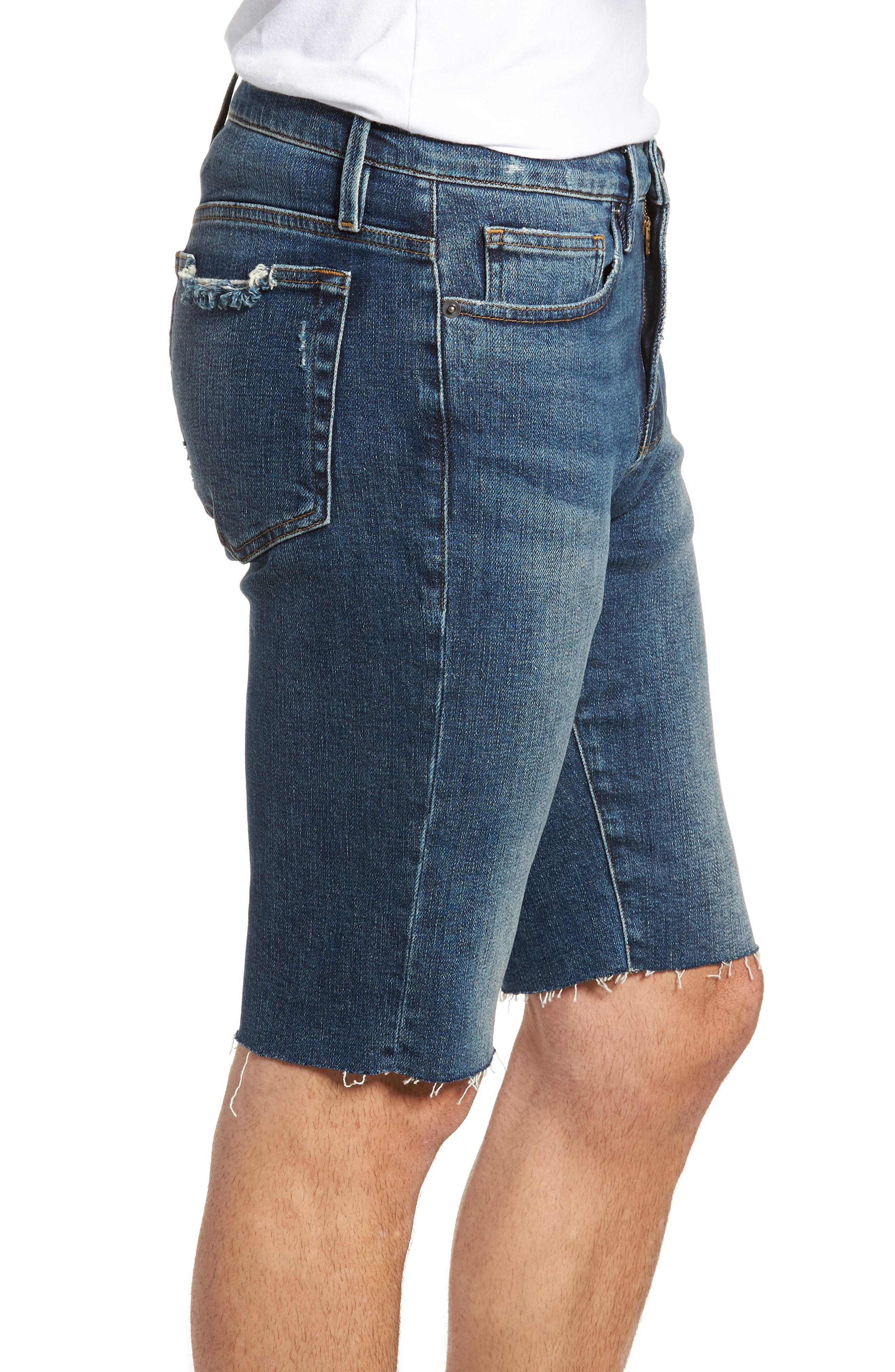 L'Homme Cutoff Shorts,                             Alternate thumbnail 3, color,                             KIRBY