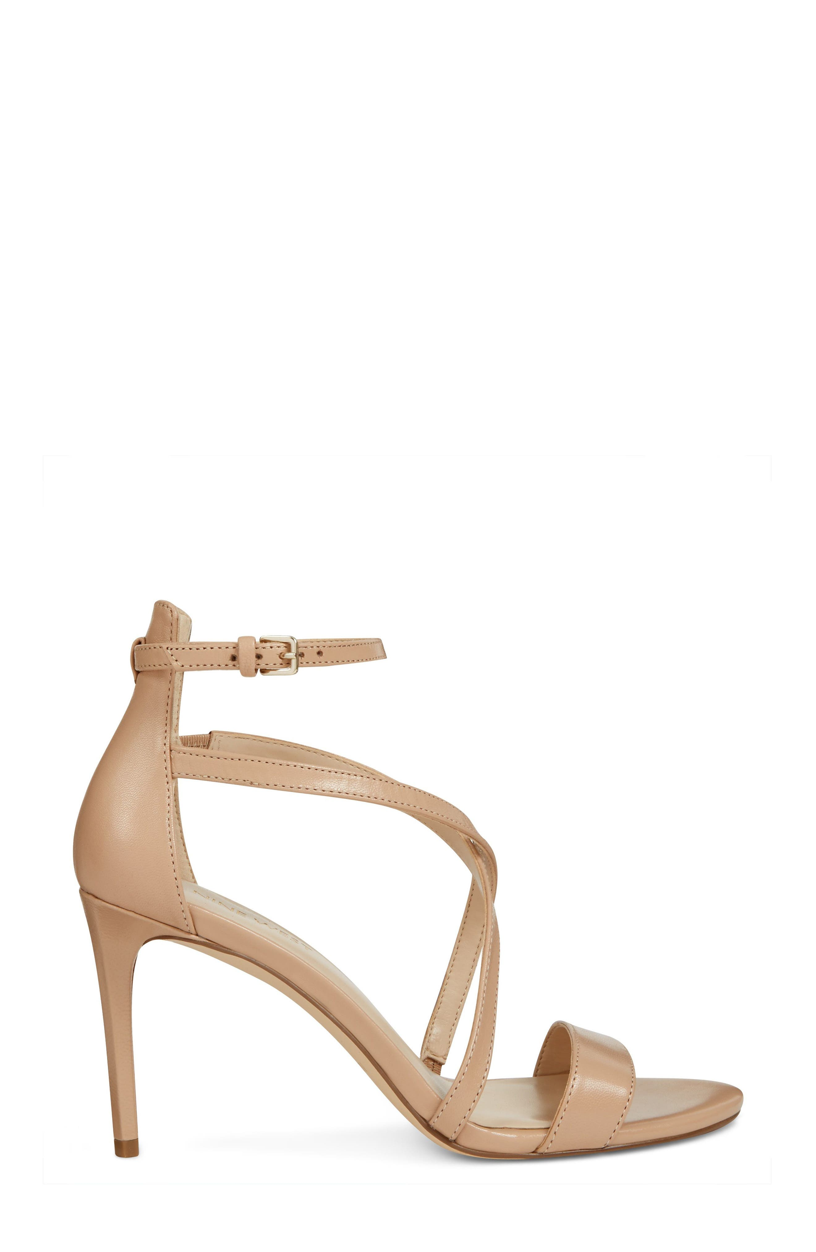 Retail Therapy Strappy Sandal,                             Alternate thumbnail 3, color,                             NATURAL LEATHER