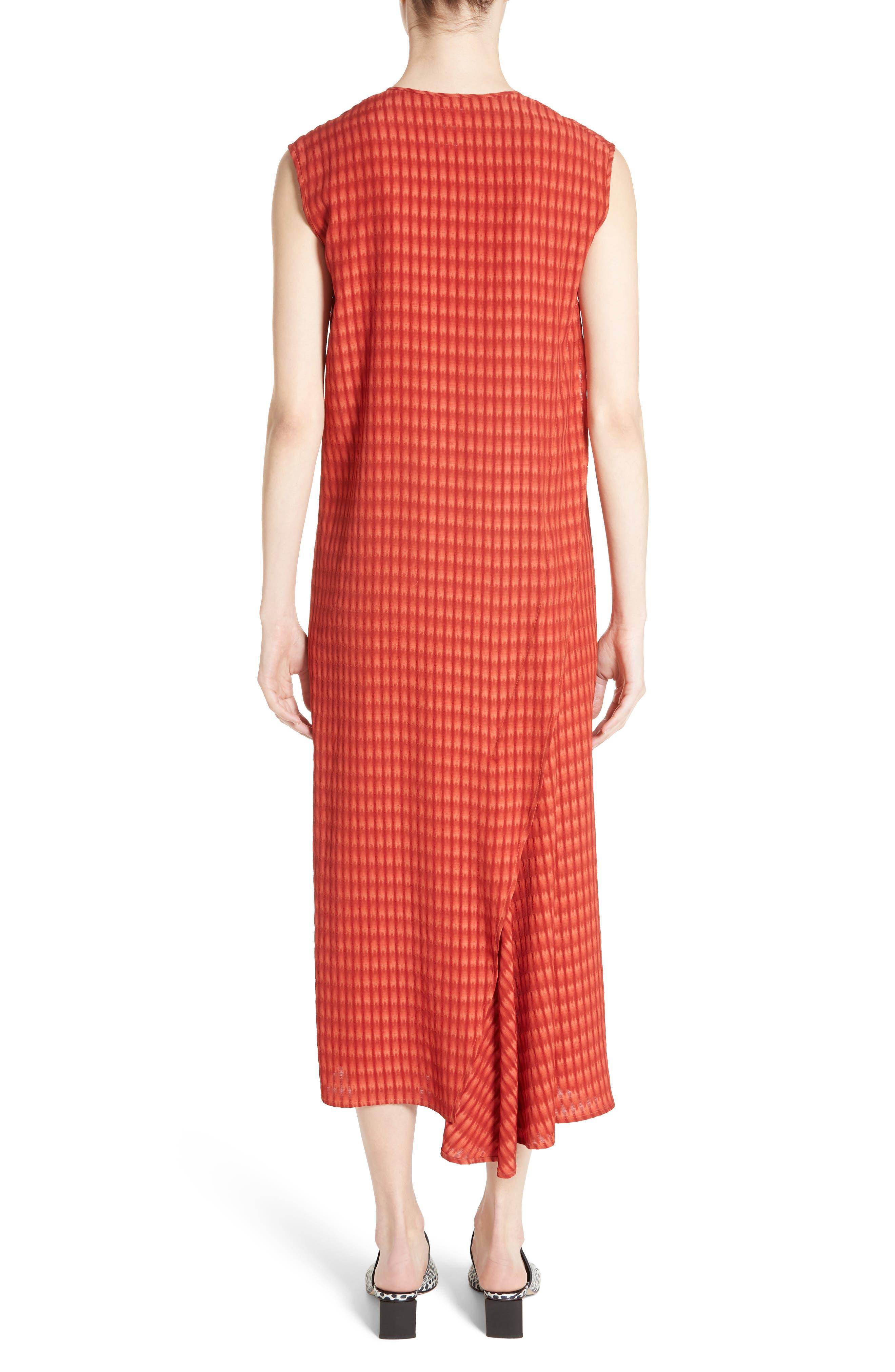 Twisted Tank Batik Plaid Dress,                             Alternate thumbnail 2, color,