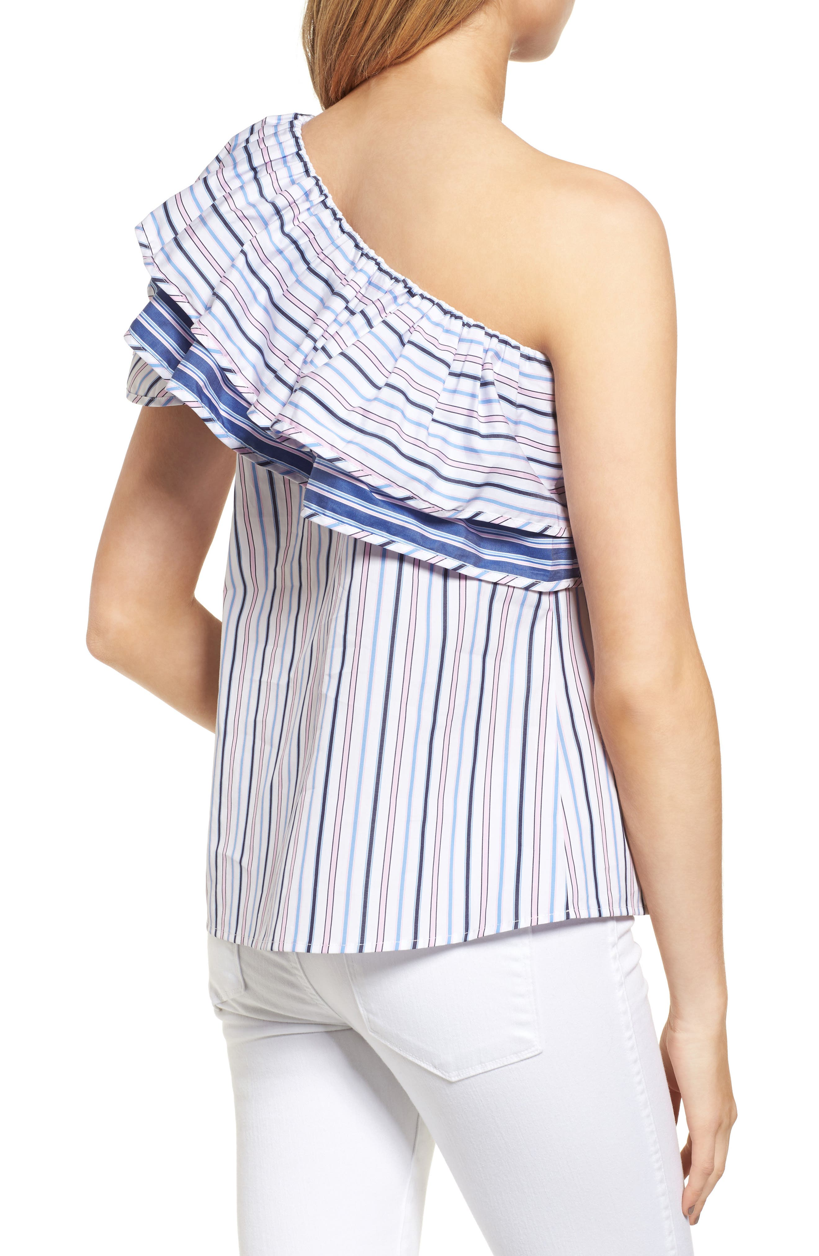 Mary One-Shoulder Top,                             Alternate thumbnail 2, color,                             400