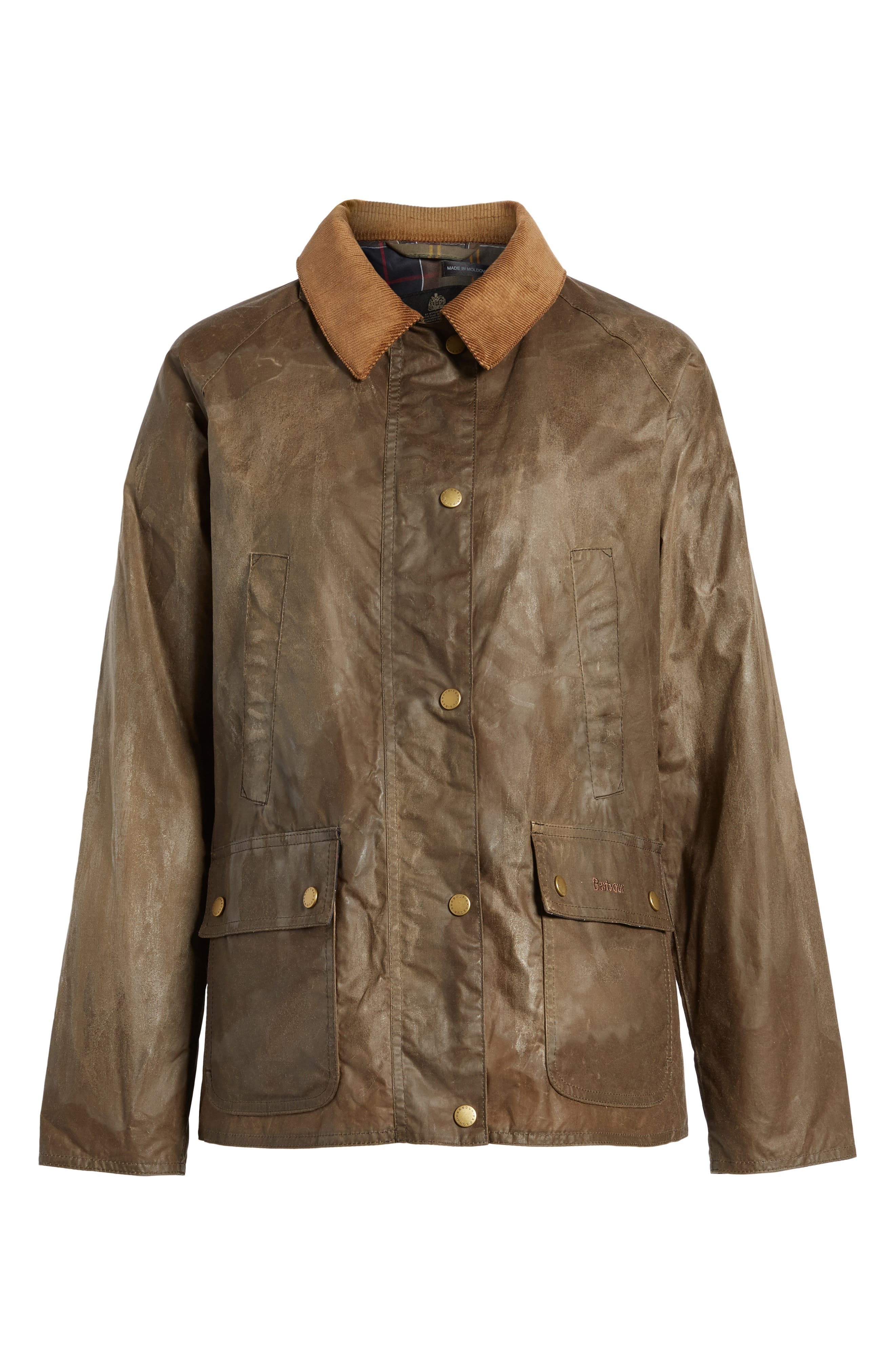 Acorn Water Resistant Waxed Cotton Jacket,                             Alternate thumbnail 6, color,                             230
