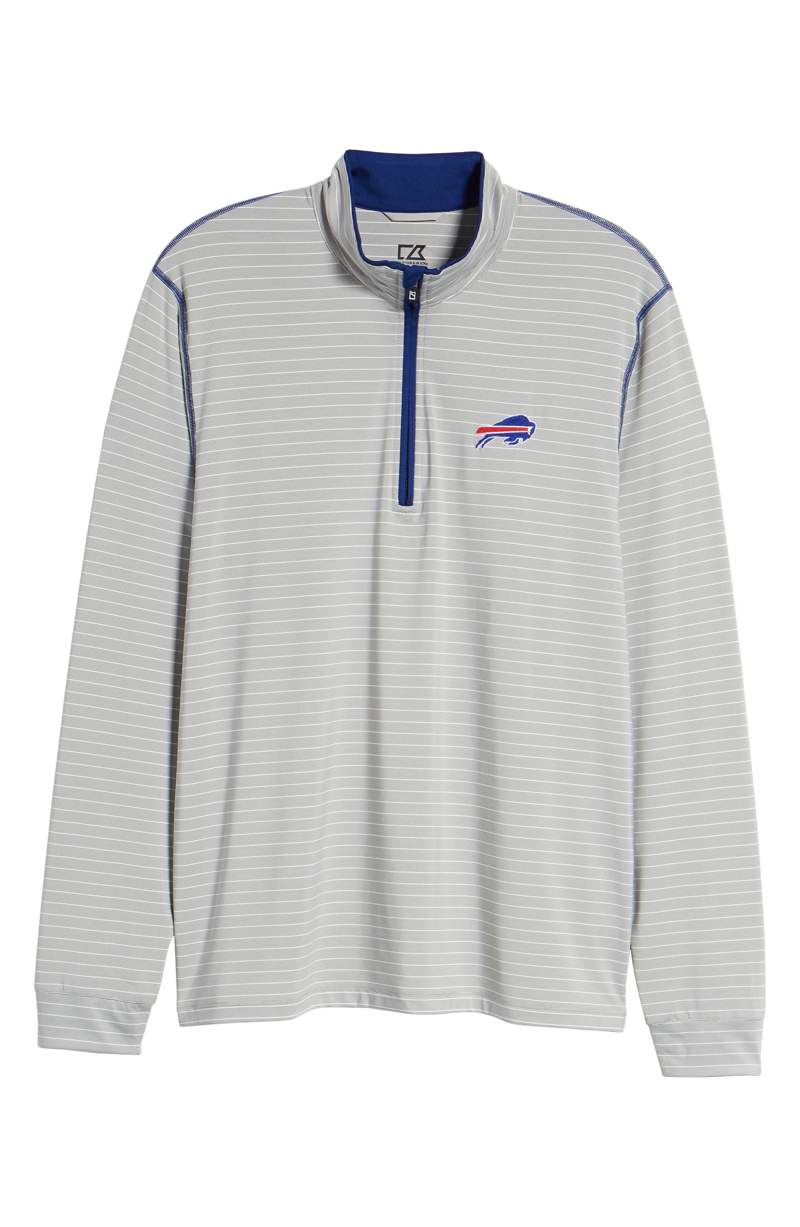 Meridian - Buffalo Bills Regular Fit Half Zip Pullover,                             Alternate thumbnail 6, color,                             462