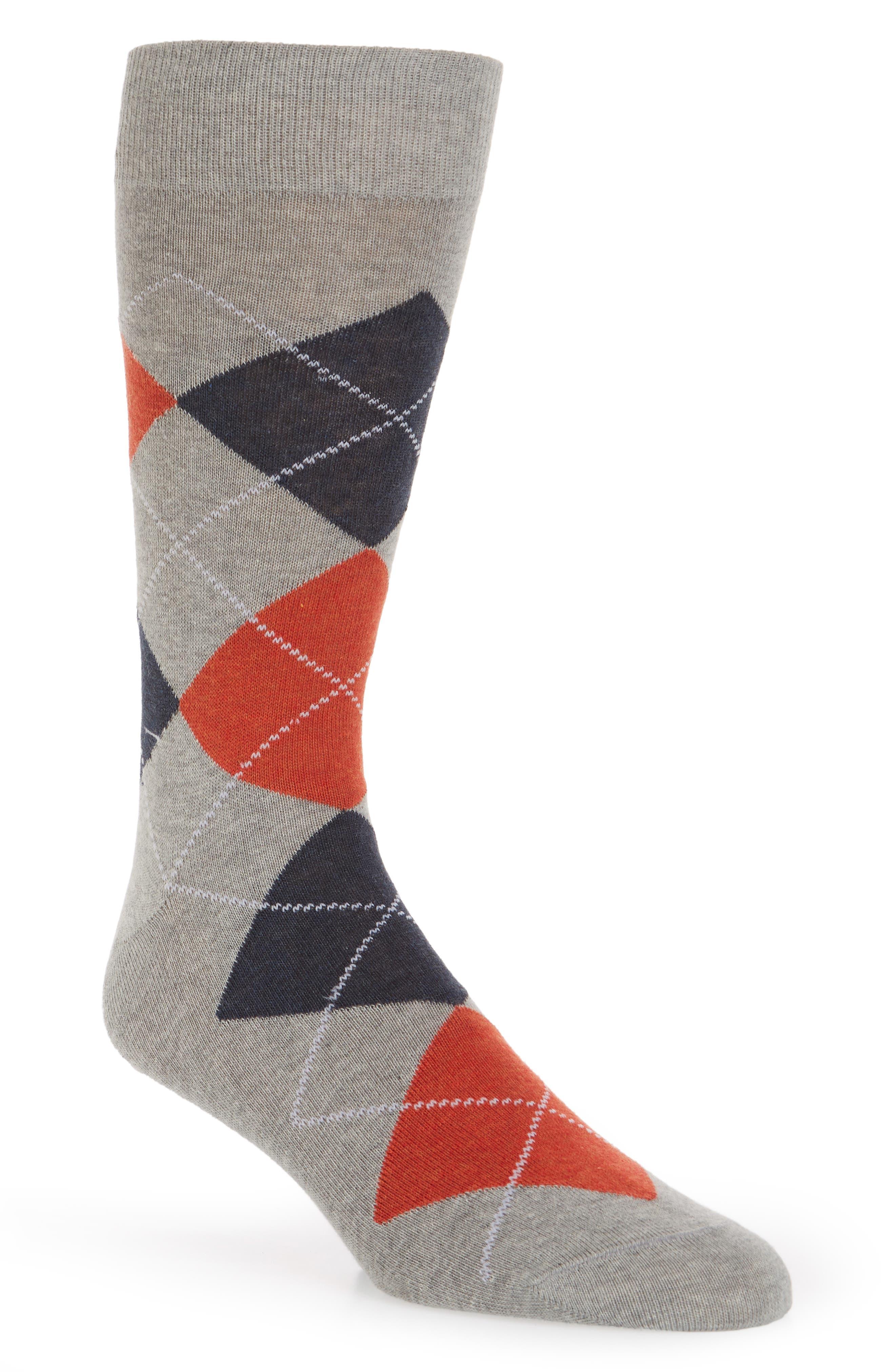 Argyle Socks,                         Main,                         color, LIGHT GREY
