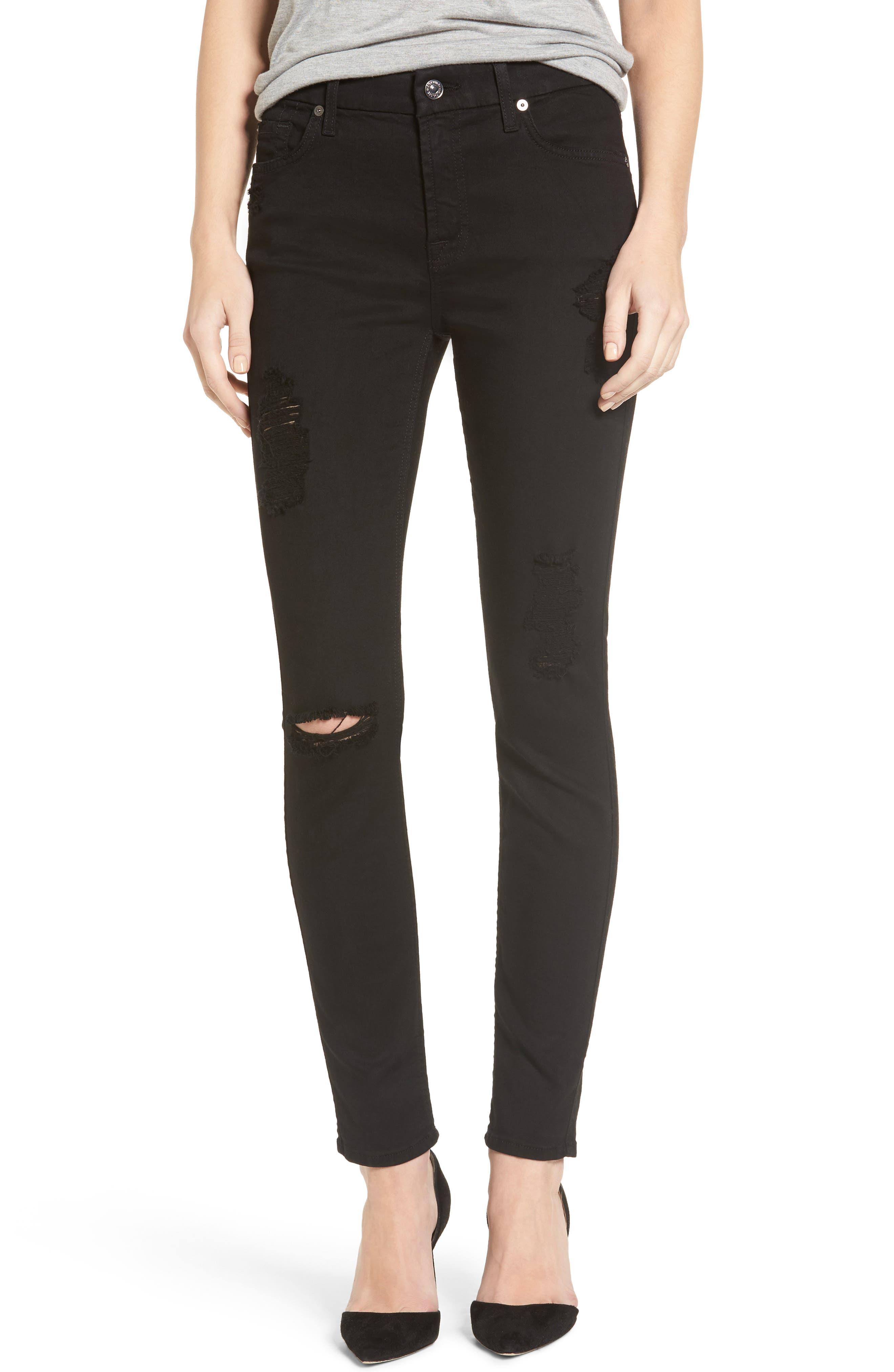 b(air) Ankle Skinny Jeans,                             Main thumbnail 1, color,                             BAIR BLACK 3
