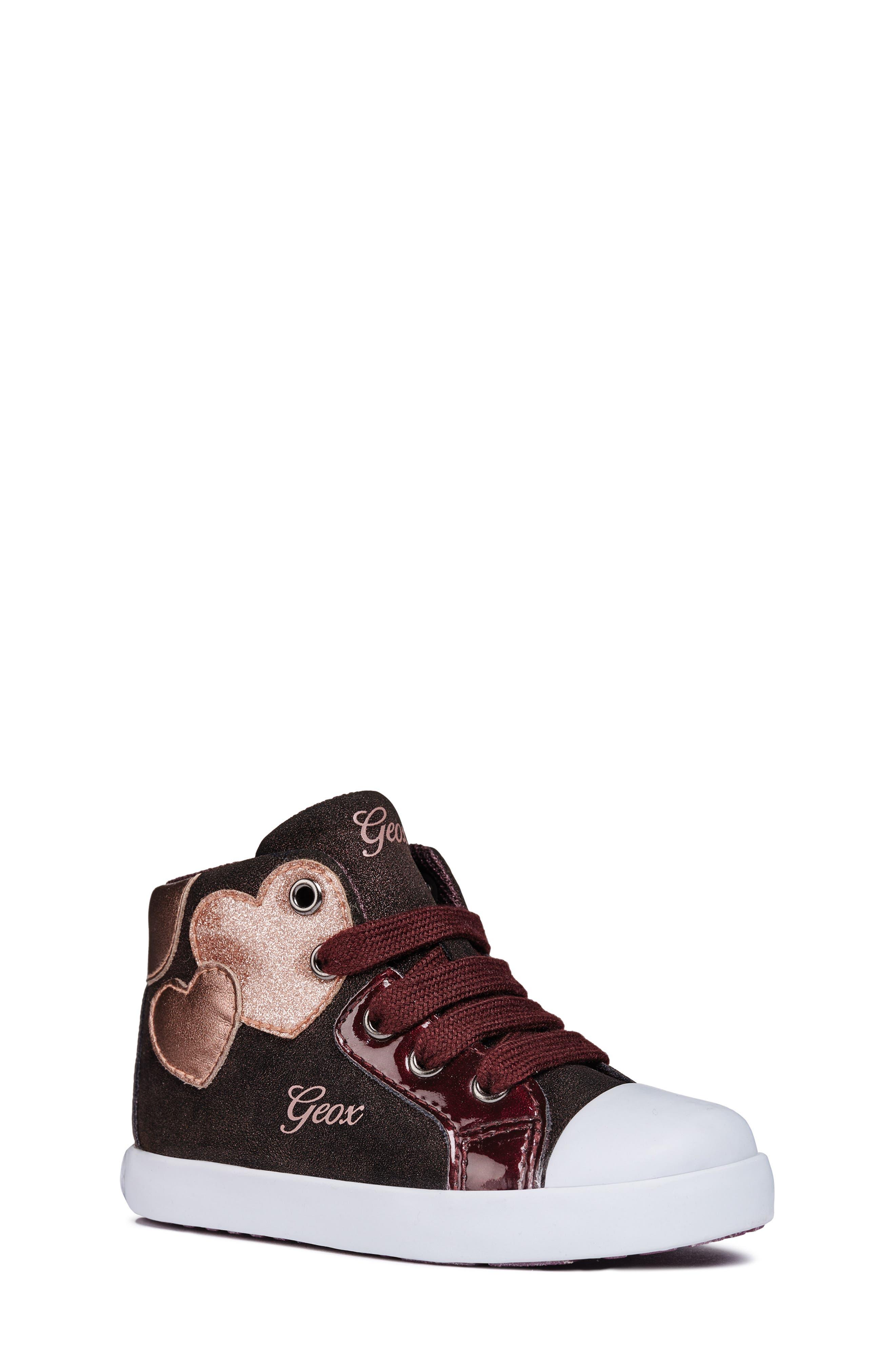 Kilwi Sparkle High Top Sneaker,                             Main thumbnail 1, color,                             DARK BURGUNDY
