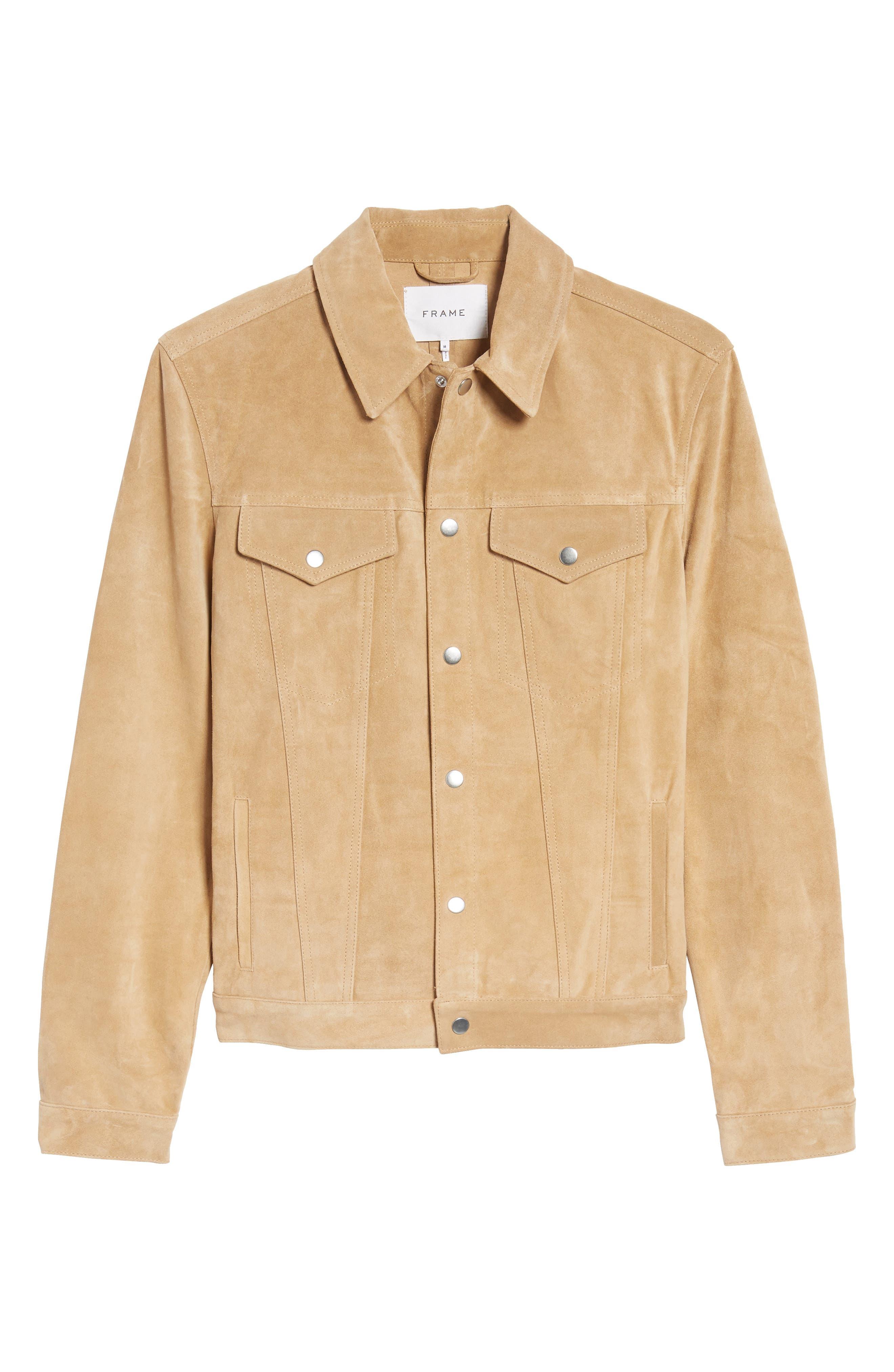 Suede Shirt Jacket,                             Alternate thumbnail 5, color,                             230