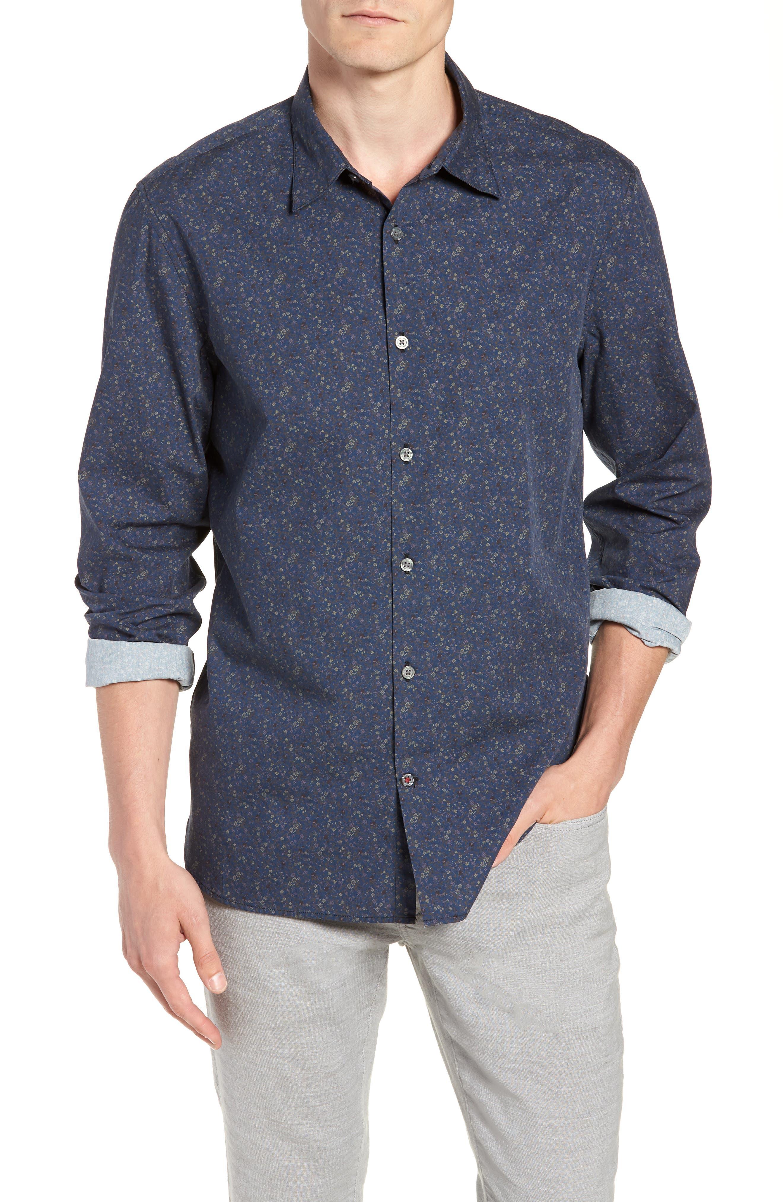 Regular Fit Sport Shirt,                             Main thumbnail 1, color,                             BLUE