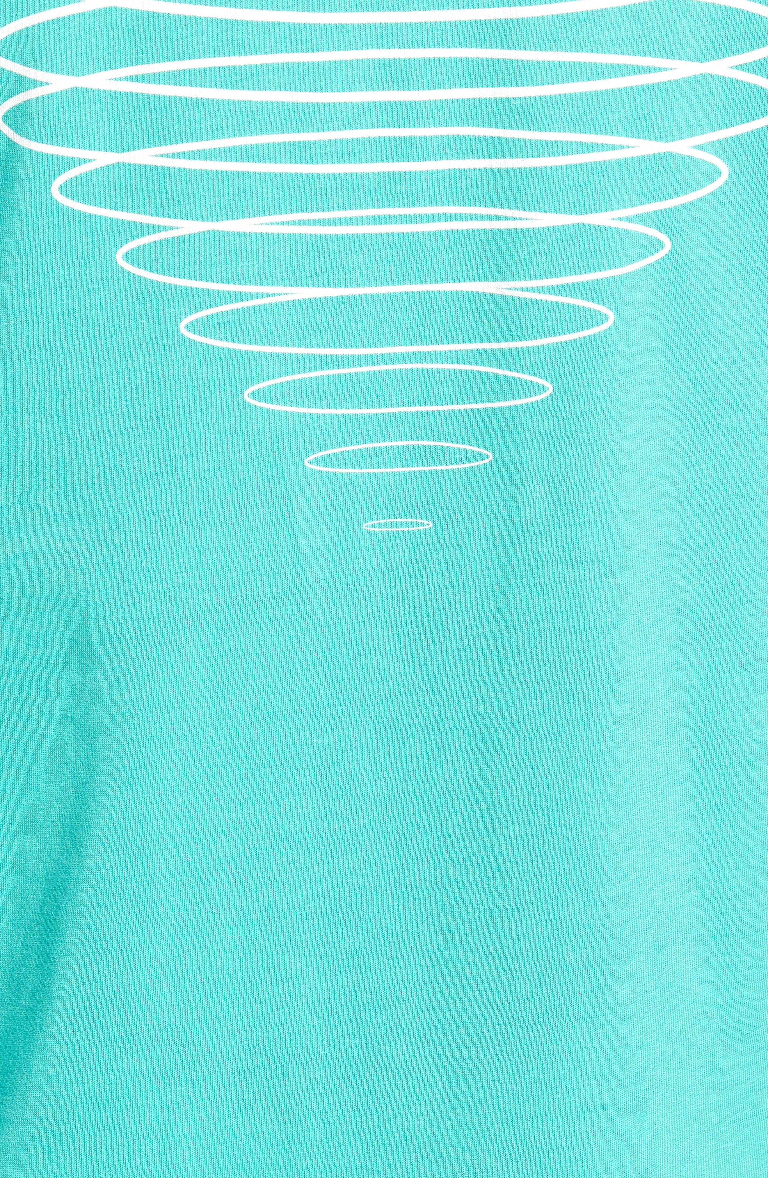 Diamond Spiral Long Sleeve T-Shirt,                             Alternate thumbnail 5, color,                             SEAFOAM GREEN