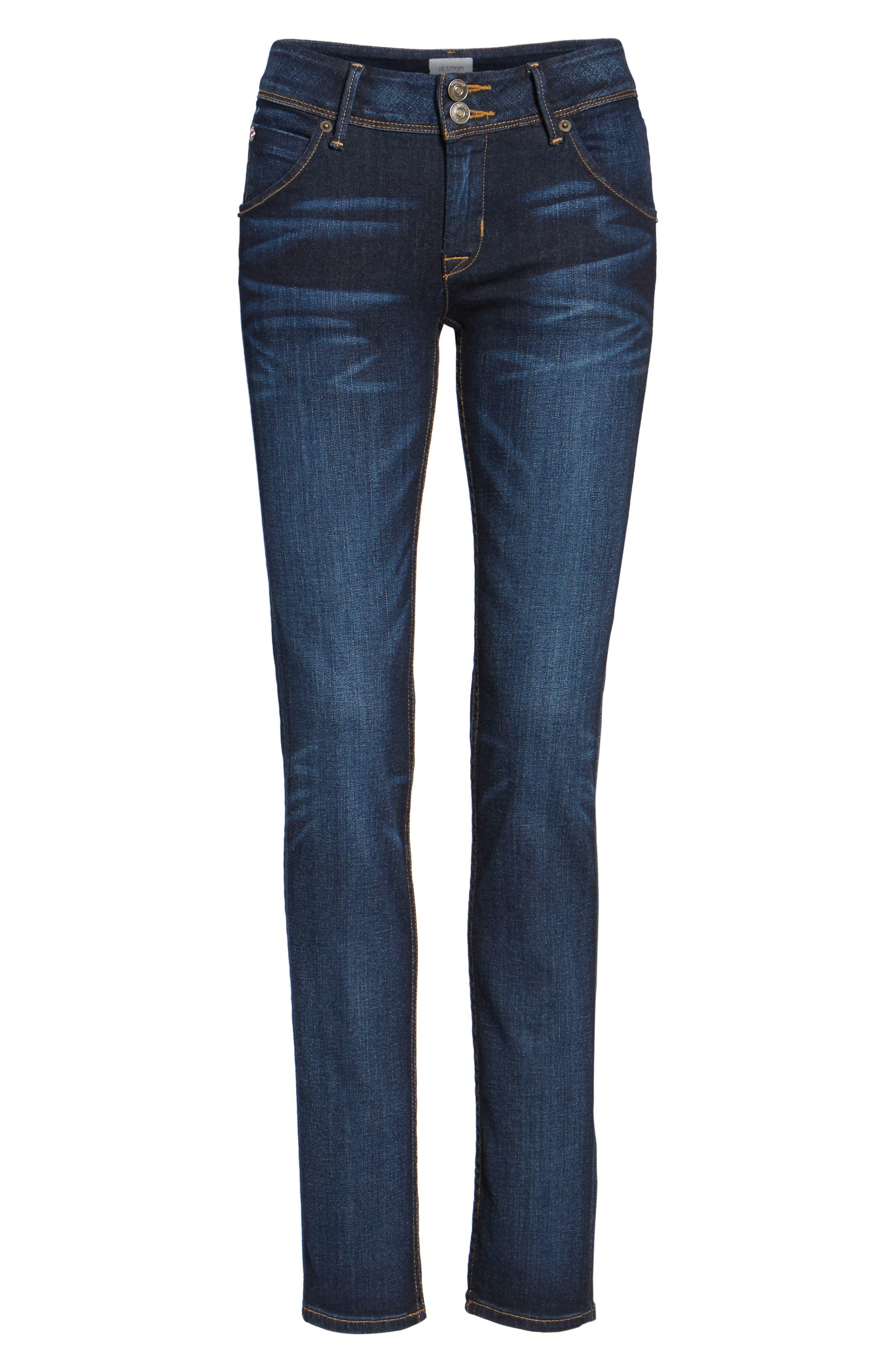 'Collin' Supermodel Skinny Jeans,                             Alternate thumbnail 6, color,                             CREST FALL