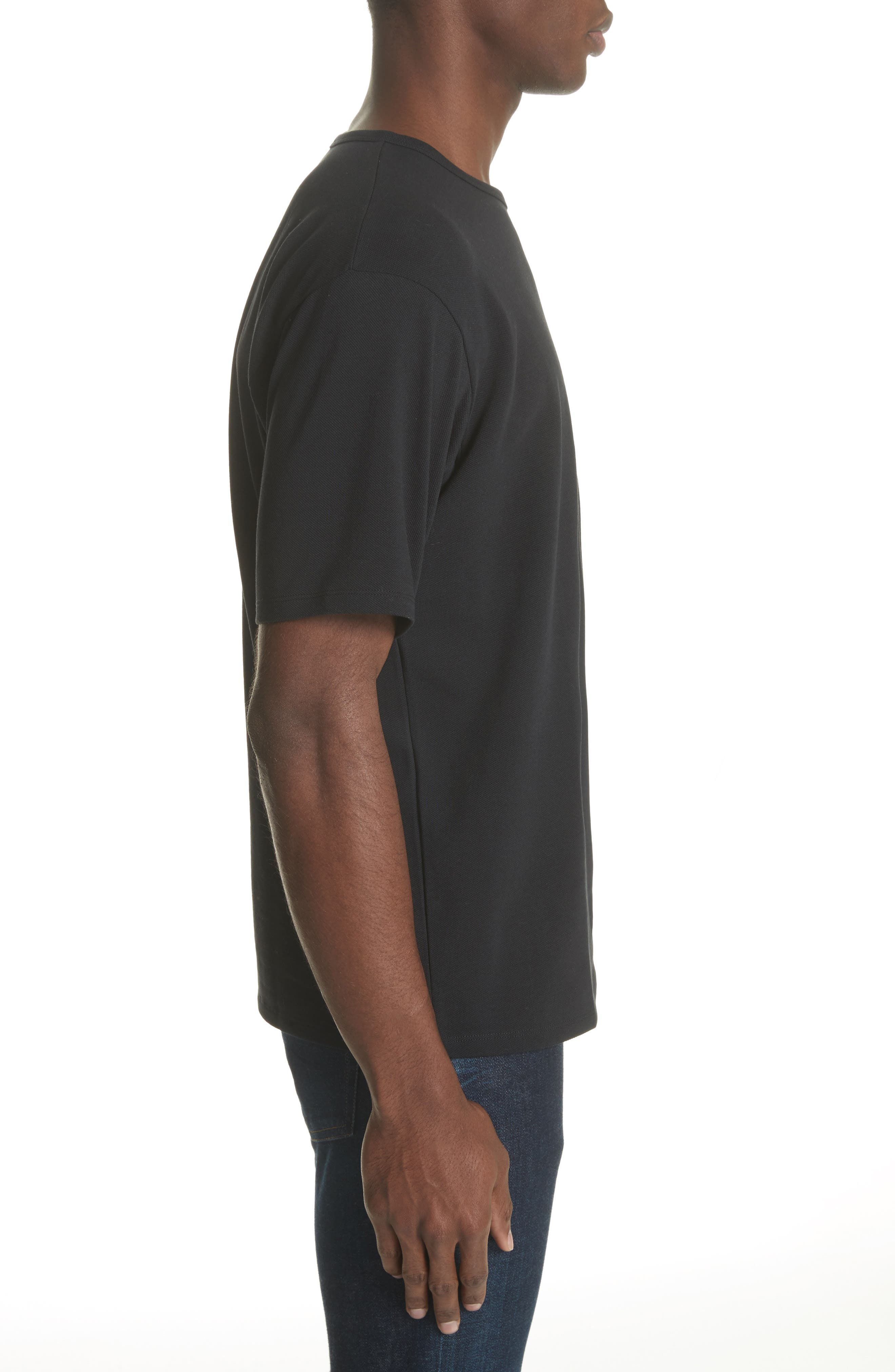 Niagara Crewneck T-Shirt,                             Alternate thumbnail 3, color,                             BLACK