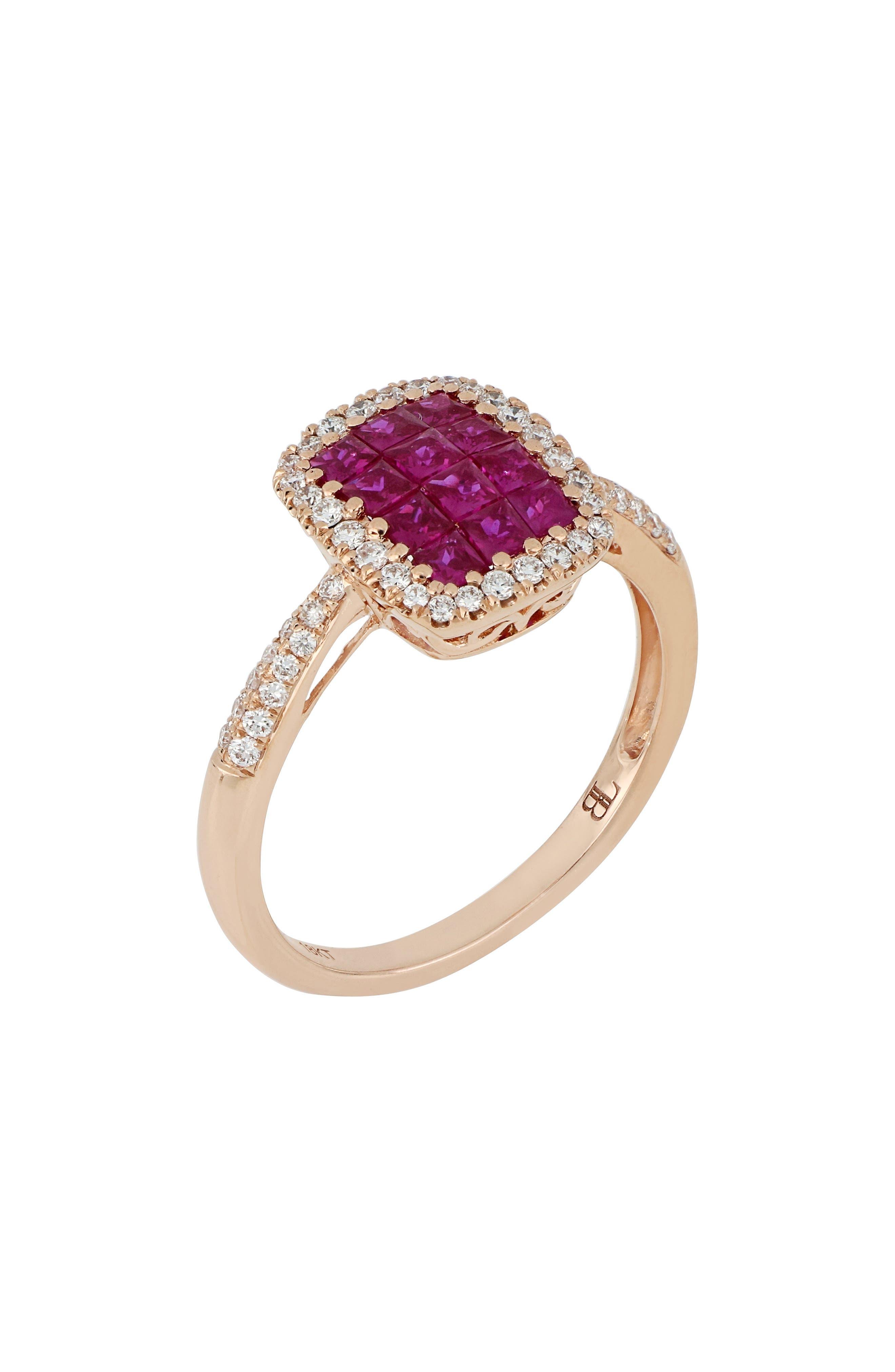Ruby & Diamond Ring,                             Main thumbnail 1, color,                             ROSE GOLD