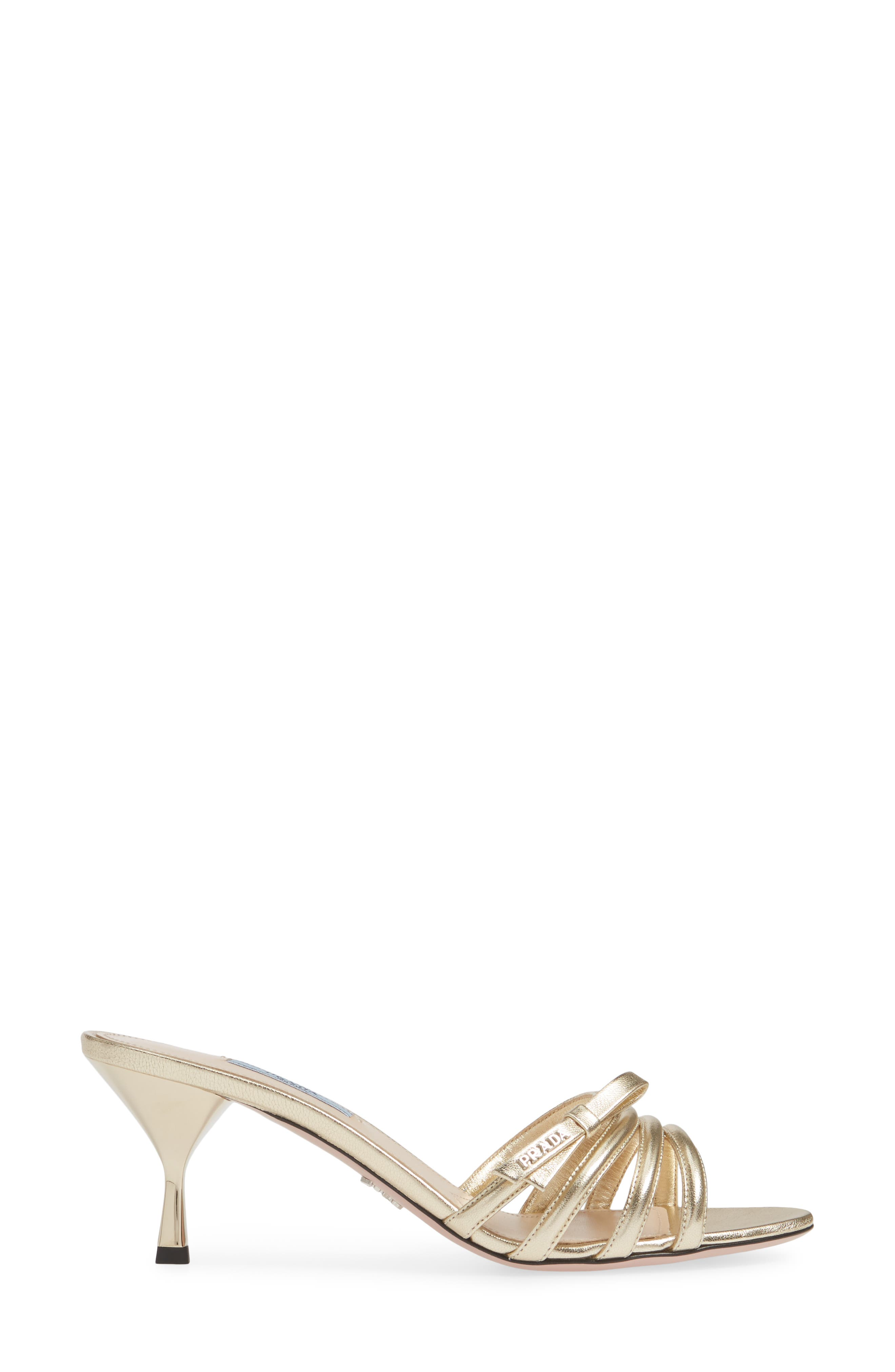 PRADA,                             Metallic Slide Sandal,                             Alternate thumbnail 3, color,                             PIRITE