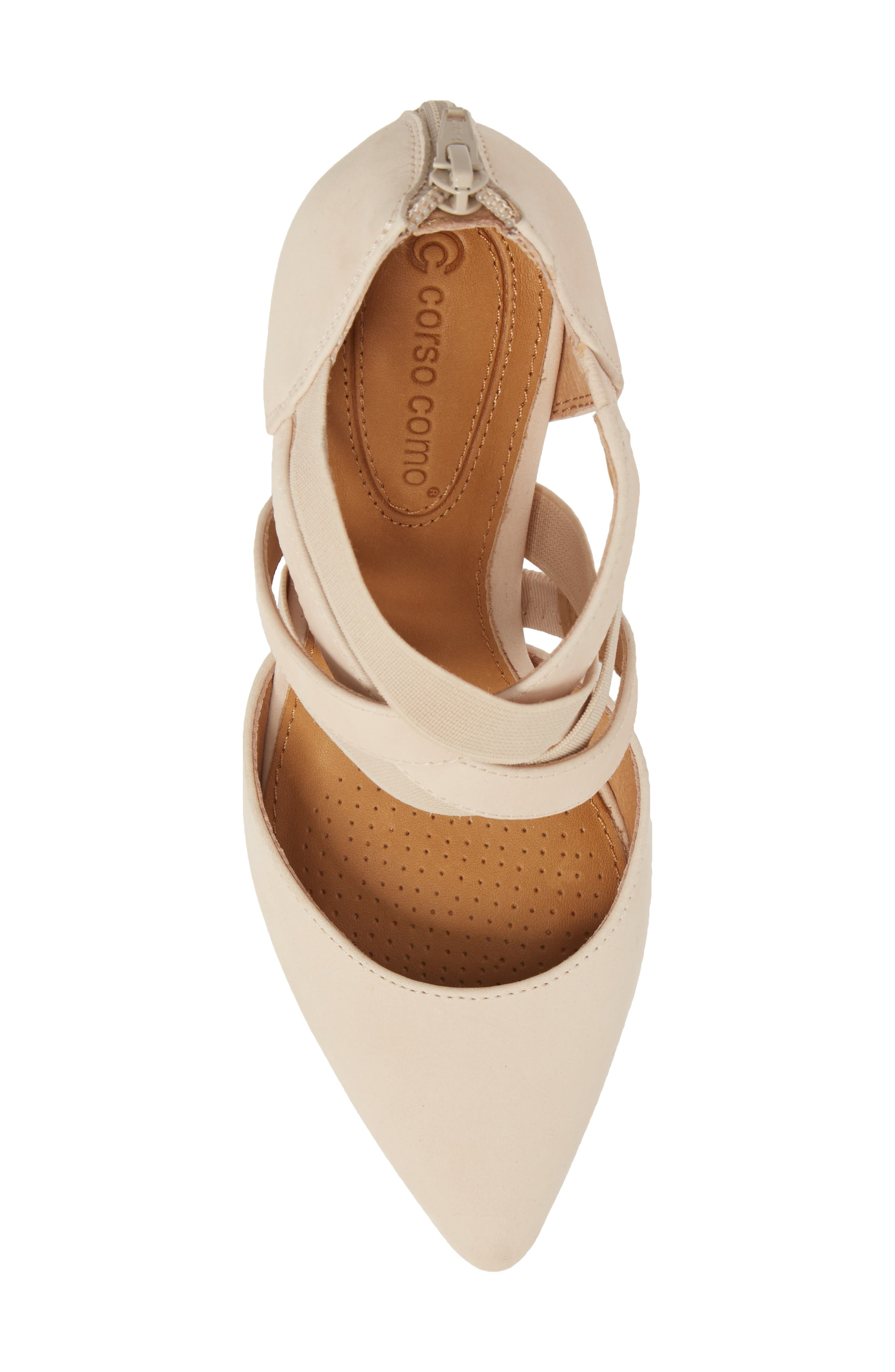 Crystal Strappy Pump,                             Alternate thumbnail 5, color,                             NUDE NUBUCK