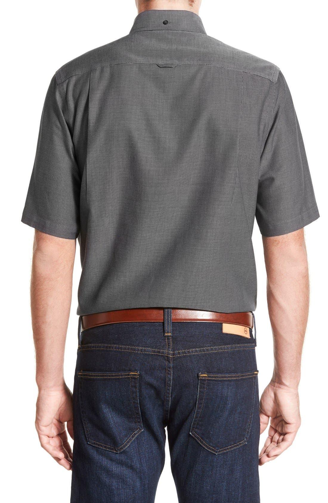 'Classic' Smartcare<sup>™</sup> Regular Fit Short Sleeve Cotton Sport Shirt,                             Alternate thumbnail 45, color,