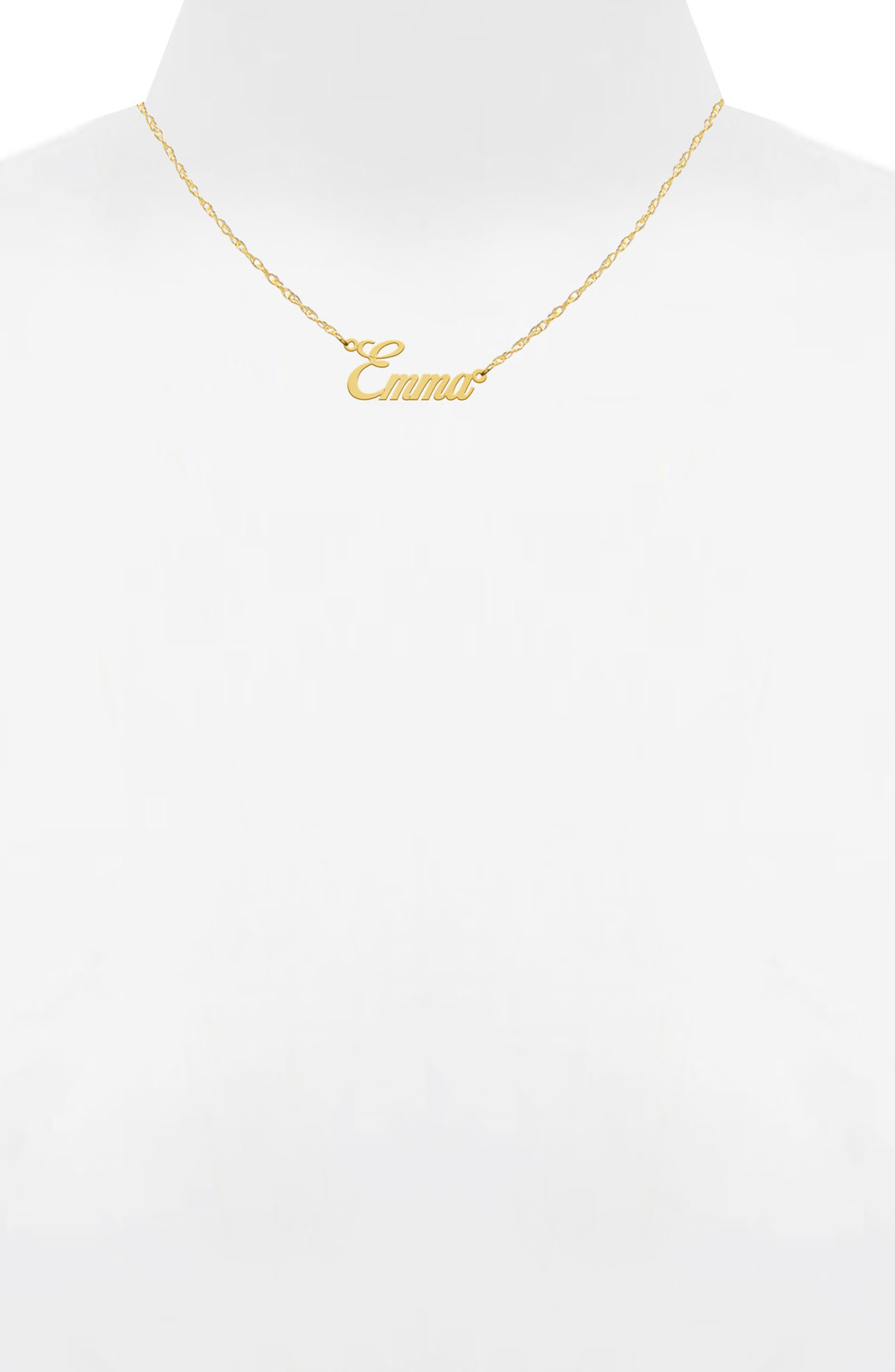 Jane Basch Personalized Nameplate Necklace,                             Alternate thumbnail 2, color,                             14K YELLOW GOLD