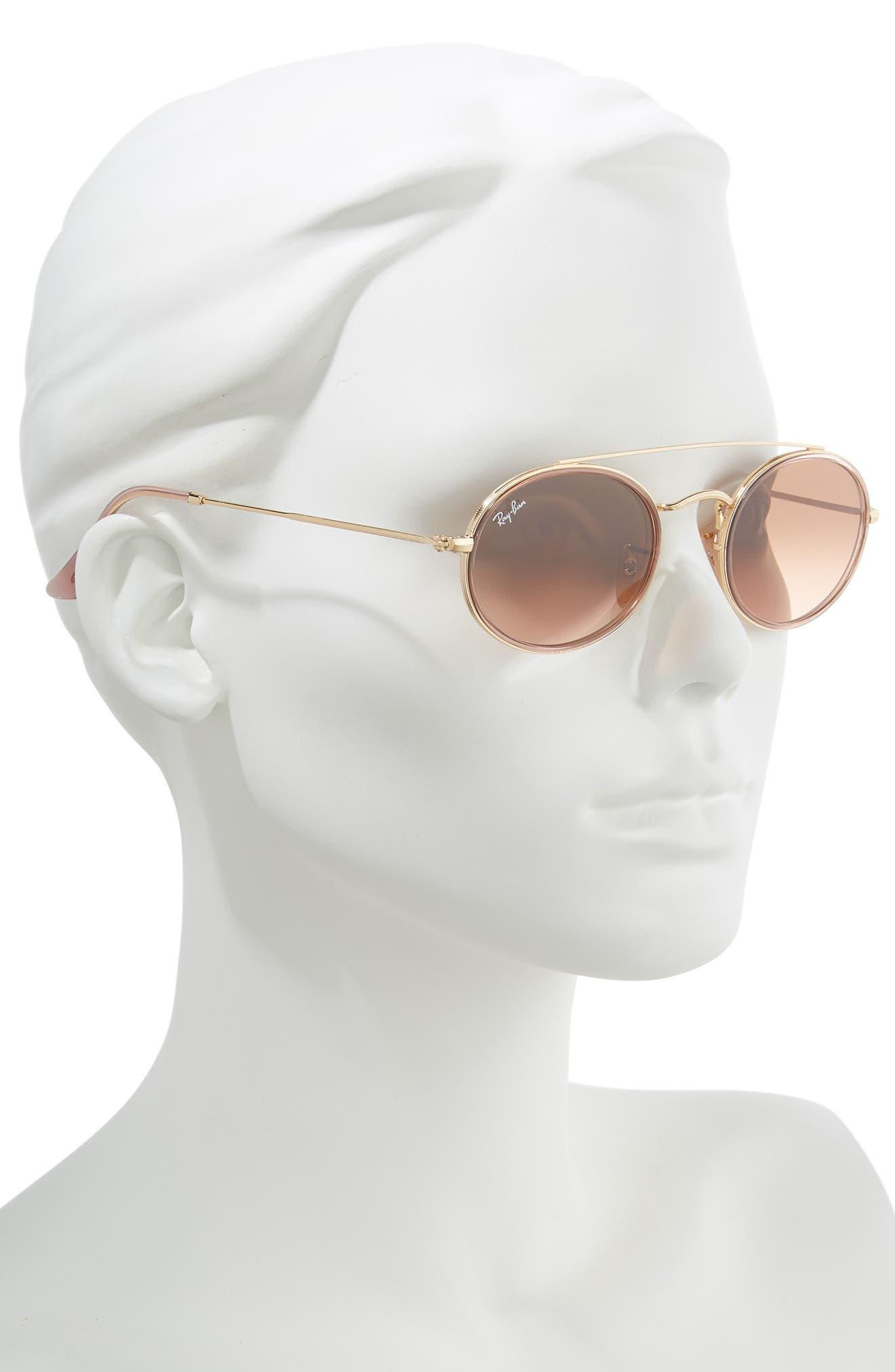 Elite 52mm Gradient Oval Sunglasses,                             Alternate thumbnail 2, color,                             712