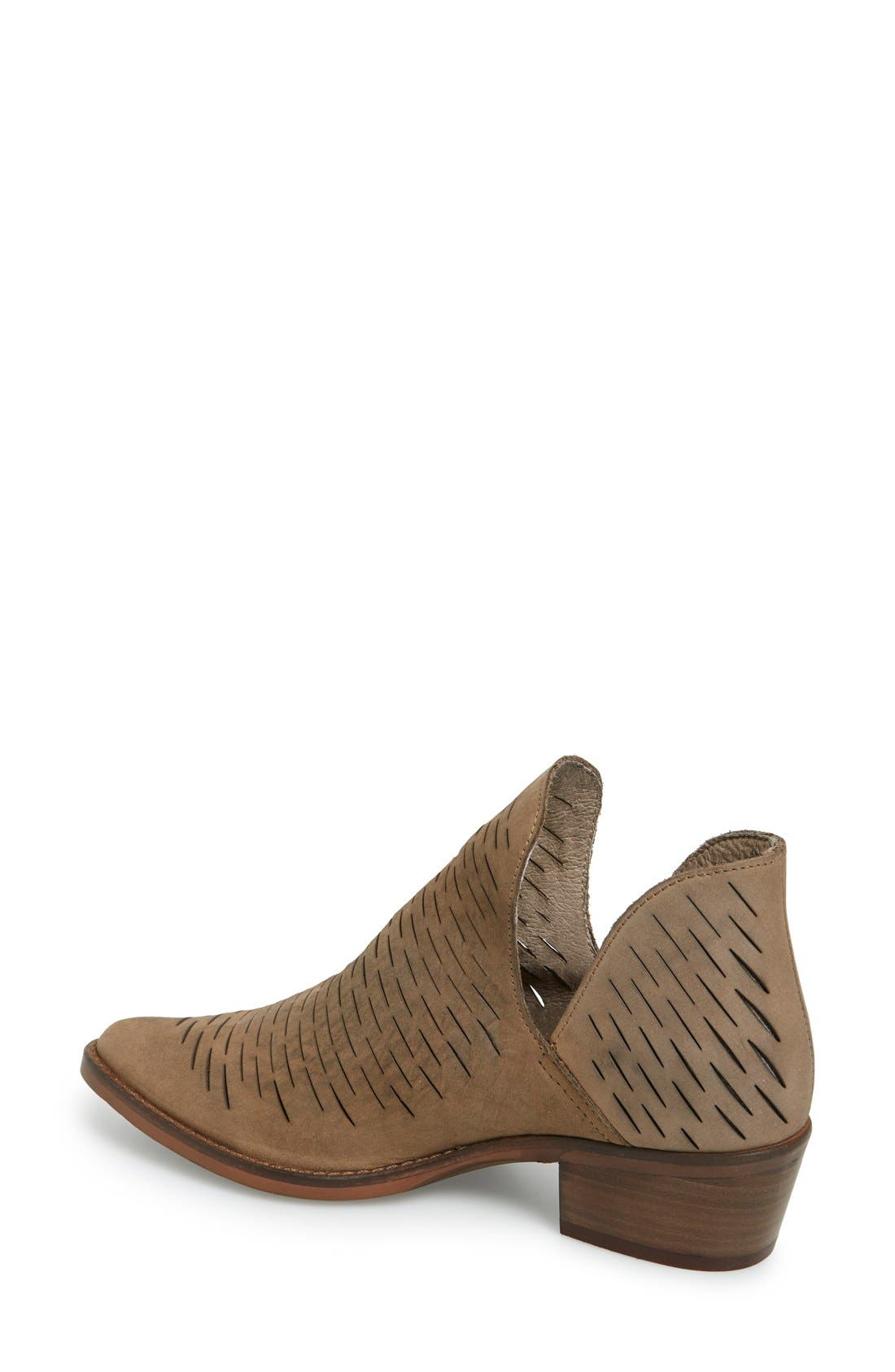 'Arowe' Perforated Bootie,                             Alternate thumbnail 4, color,                             020