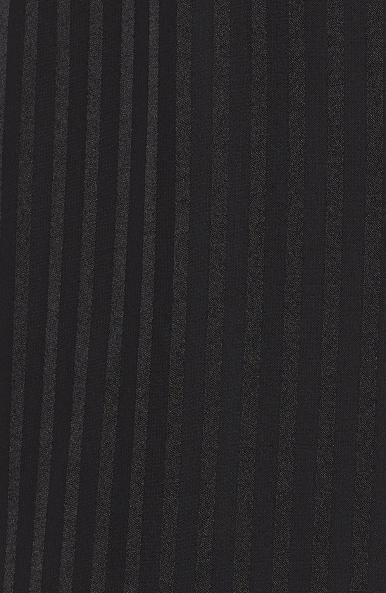 Midnight Cold Shoulder Wrap Dress,                             Alternate thumbnail 5, color,                             001