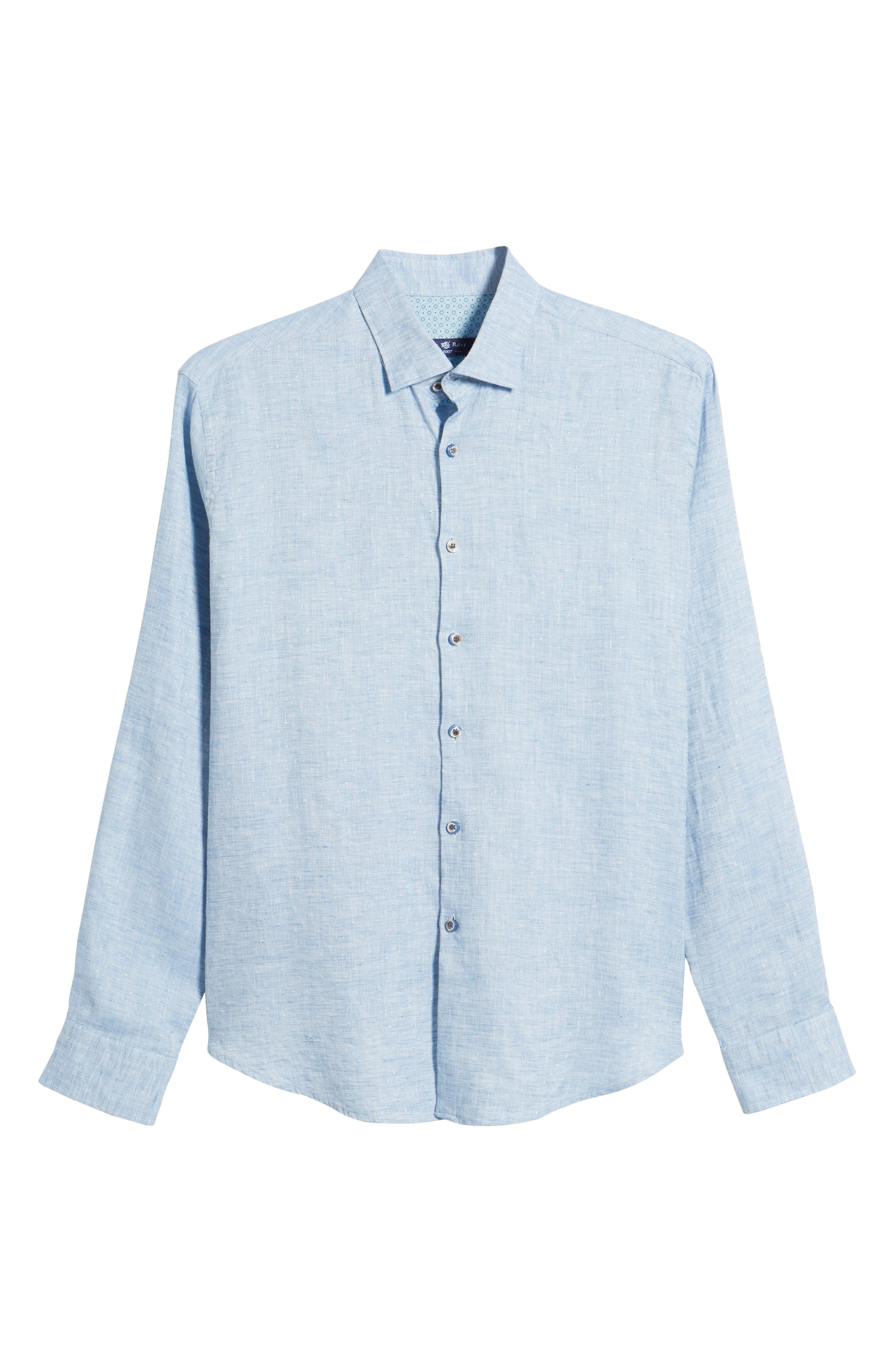 Linen Blend Sport Shirt,                             Alternate thumbnail 17, color,