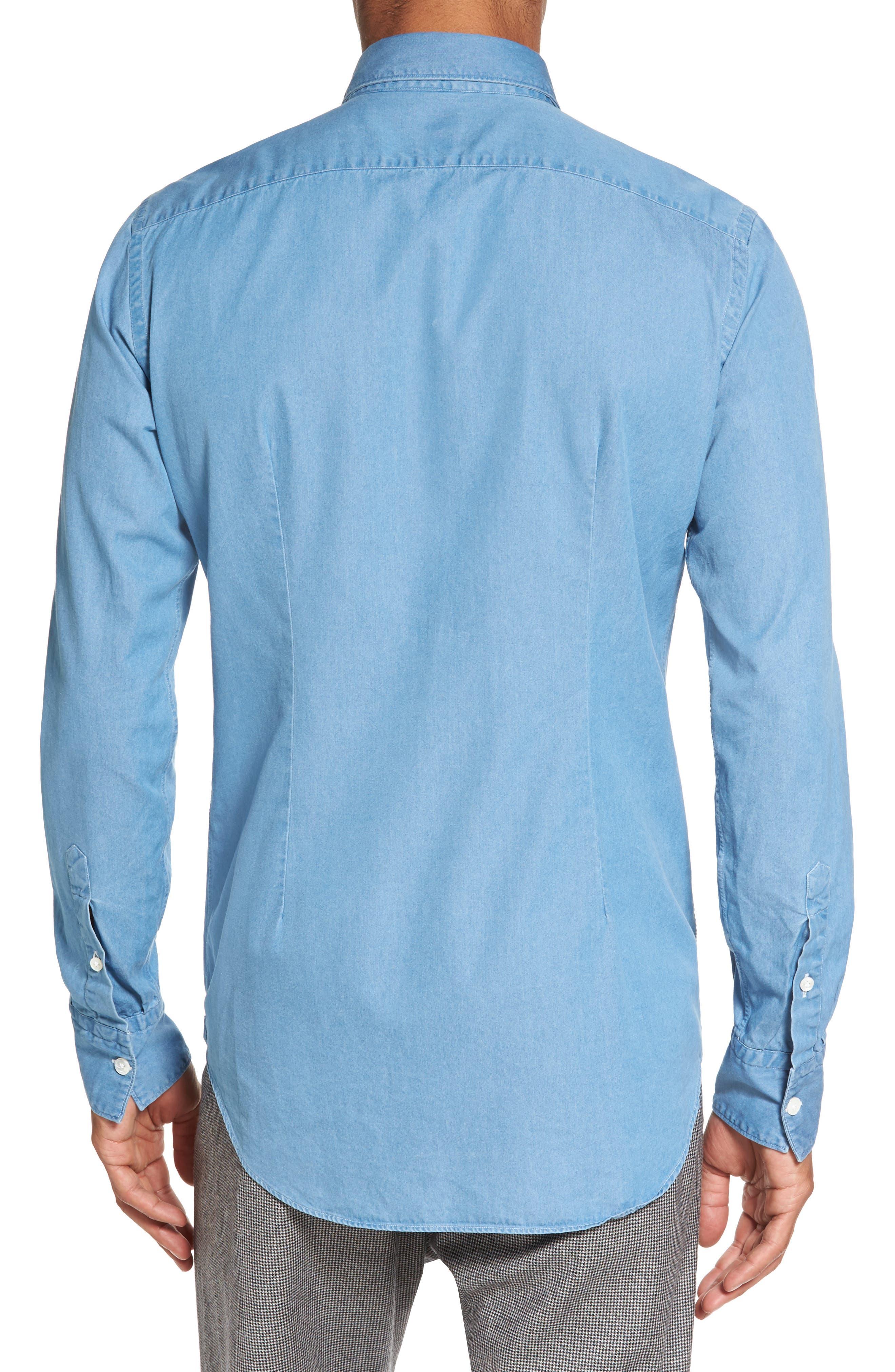 Denim Sport Shirt,                             Alternate thumbnail 2, color,                             402