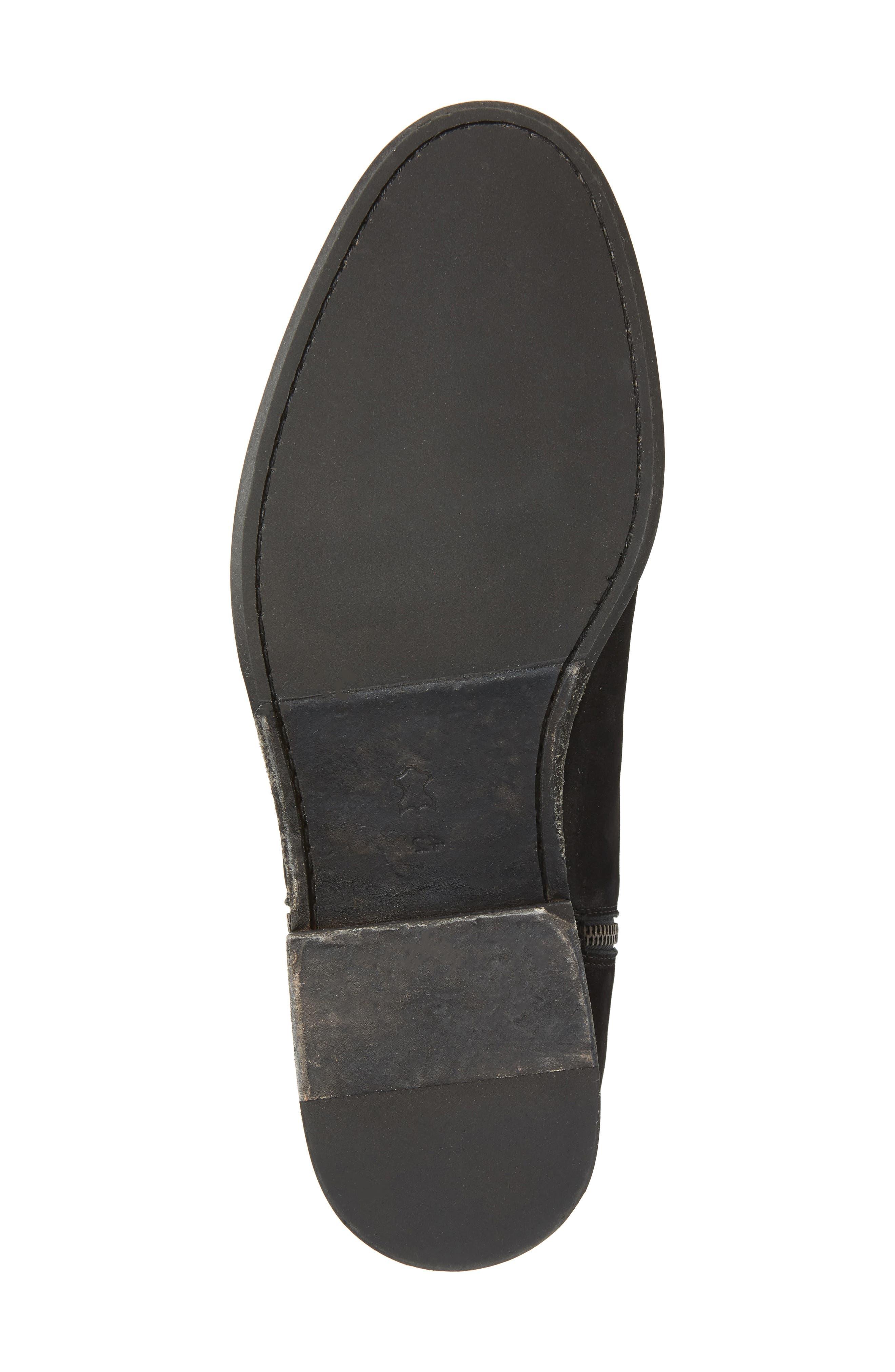 Vance Double Zipper Boot,                             Alternate thumbnail 6, color,                             BLACK LEATHER