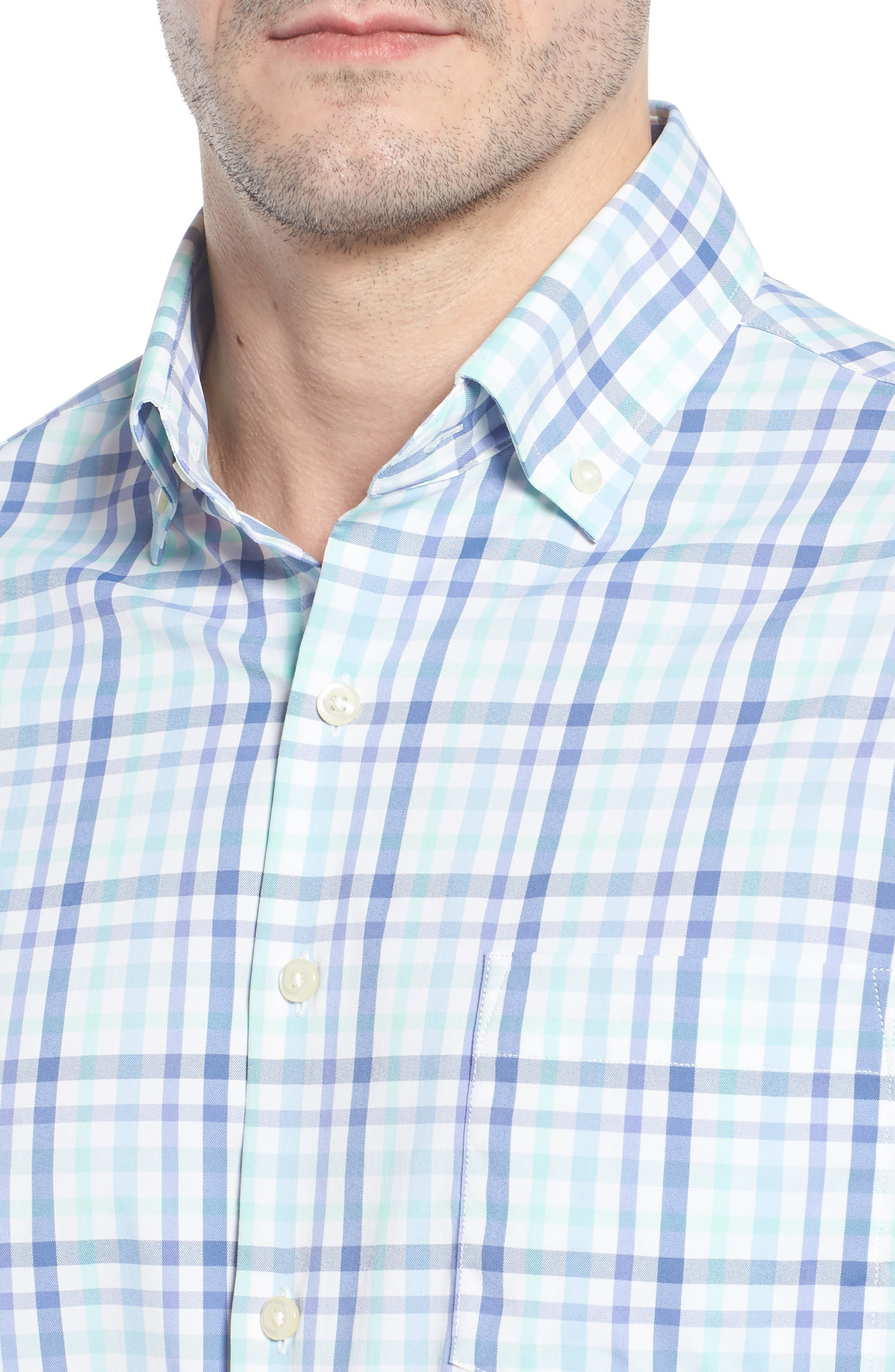 Jardine Check Performance Sport Shirt,                             Alternate thumbnail 4, color,                             423