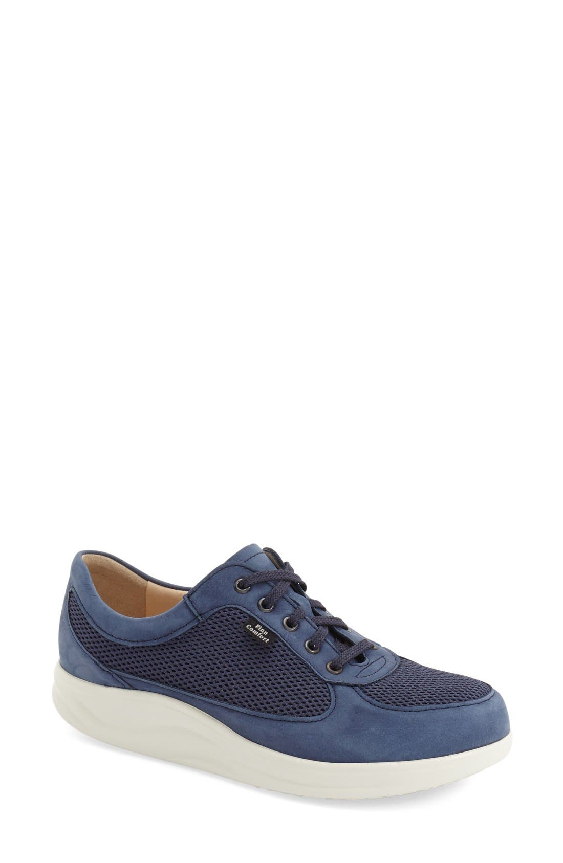 'Columbia' Sneaker,                             Main thumbnail 1, color,                             DENIM NUBUCK LEATHER