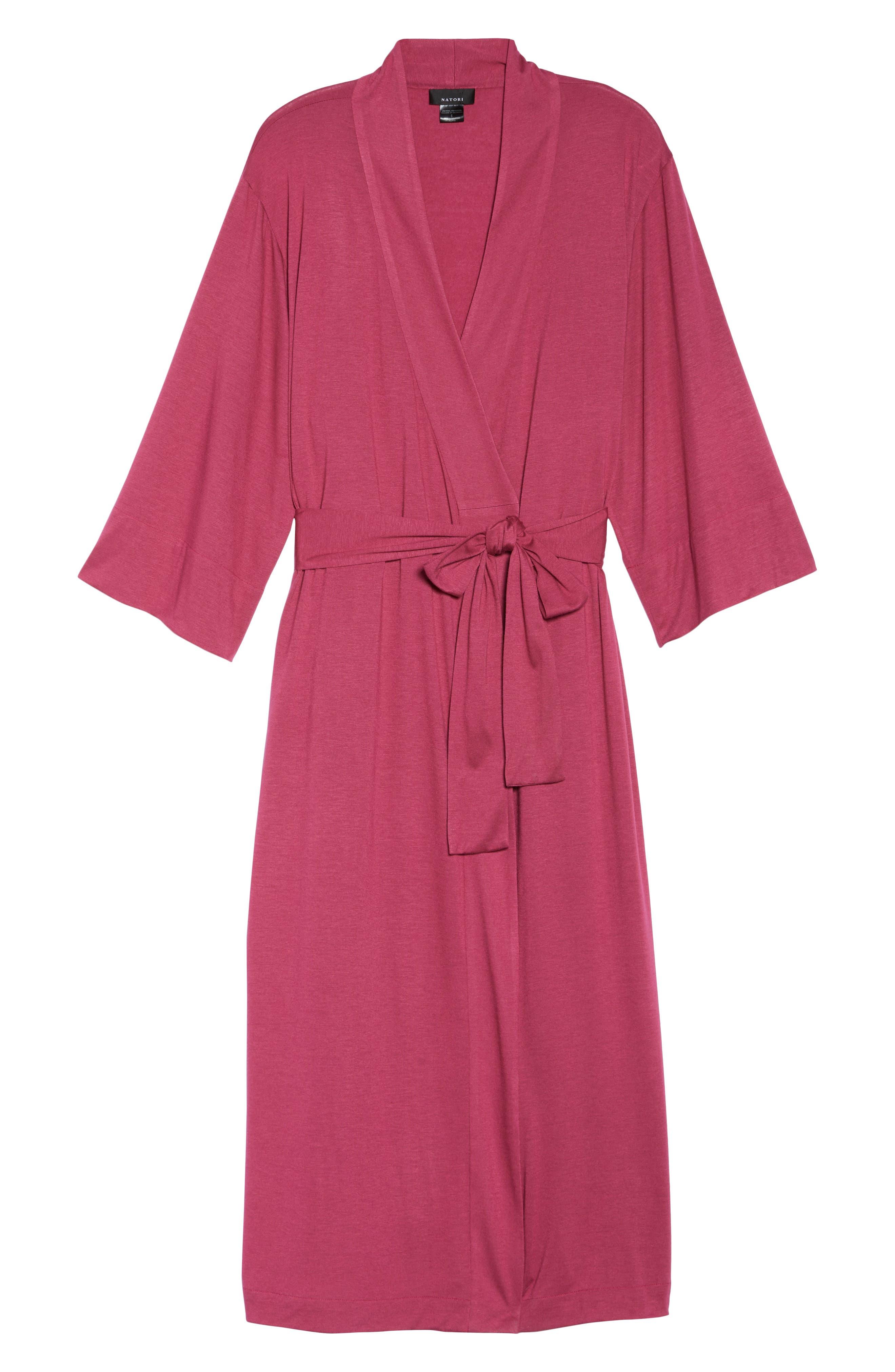 'Shangri-La' Robe,                             Alternate thumbnail 6, color,                             RUB RUBY