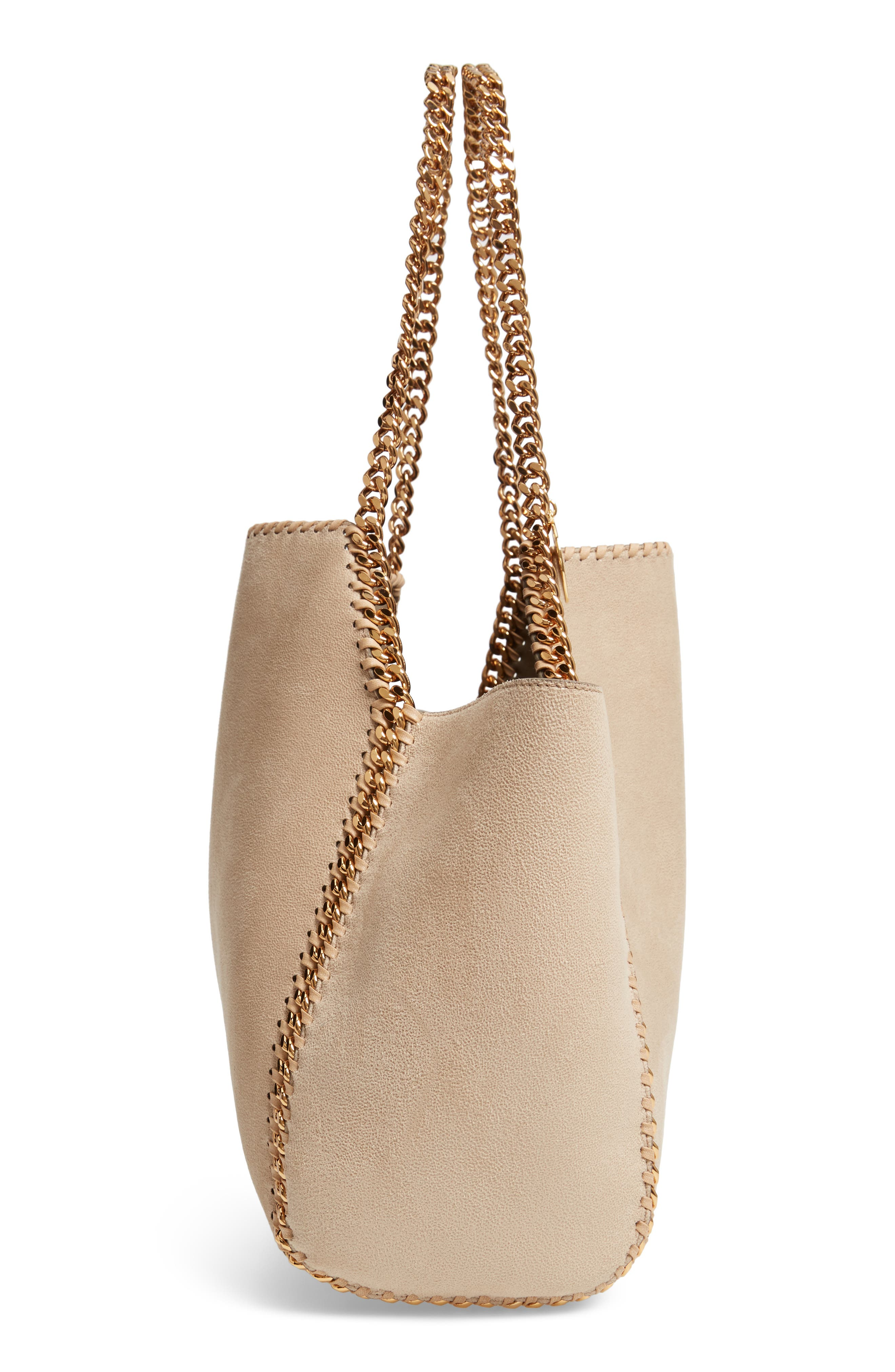 Shaggy Deer Reversible Faux Leather Tote,                             Alternate thumbnail 6, color,                             CLOTTED CREAM