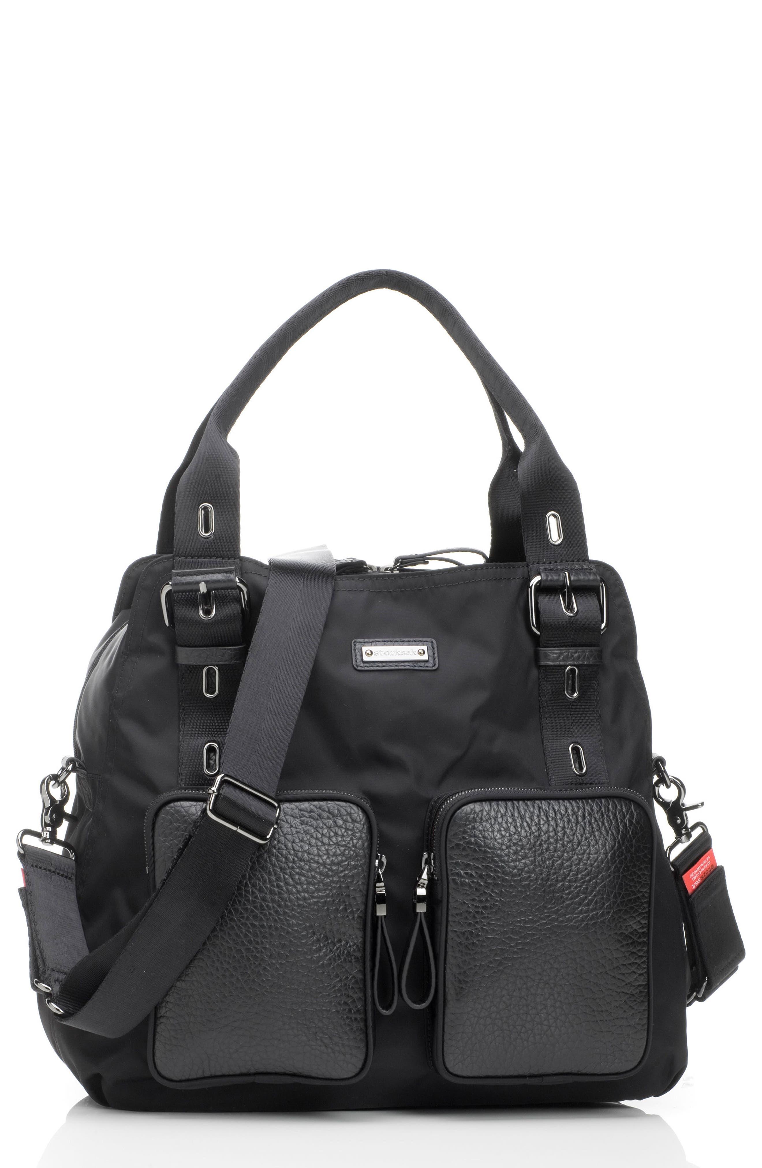 Alexa Luxe Diaper Bag,                             Main thumbnail 1, color,                             BLACK