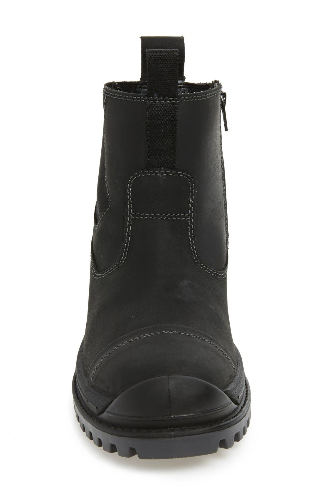 Griffon Snow Waterproof Boot,                             Alternate thumbnail 3, color,                             BLACK LEATHER