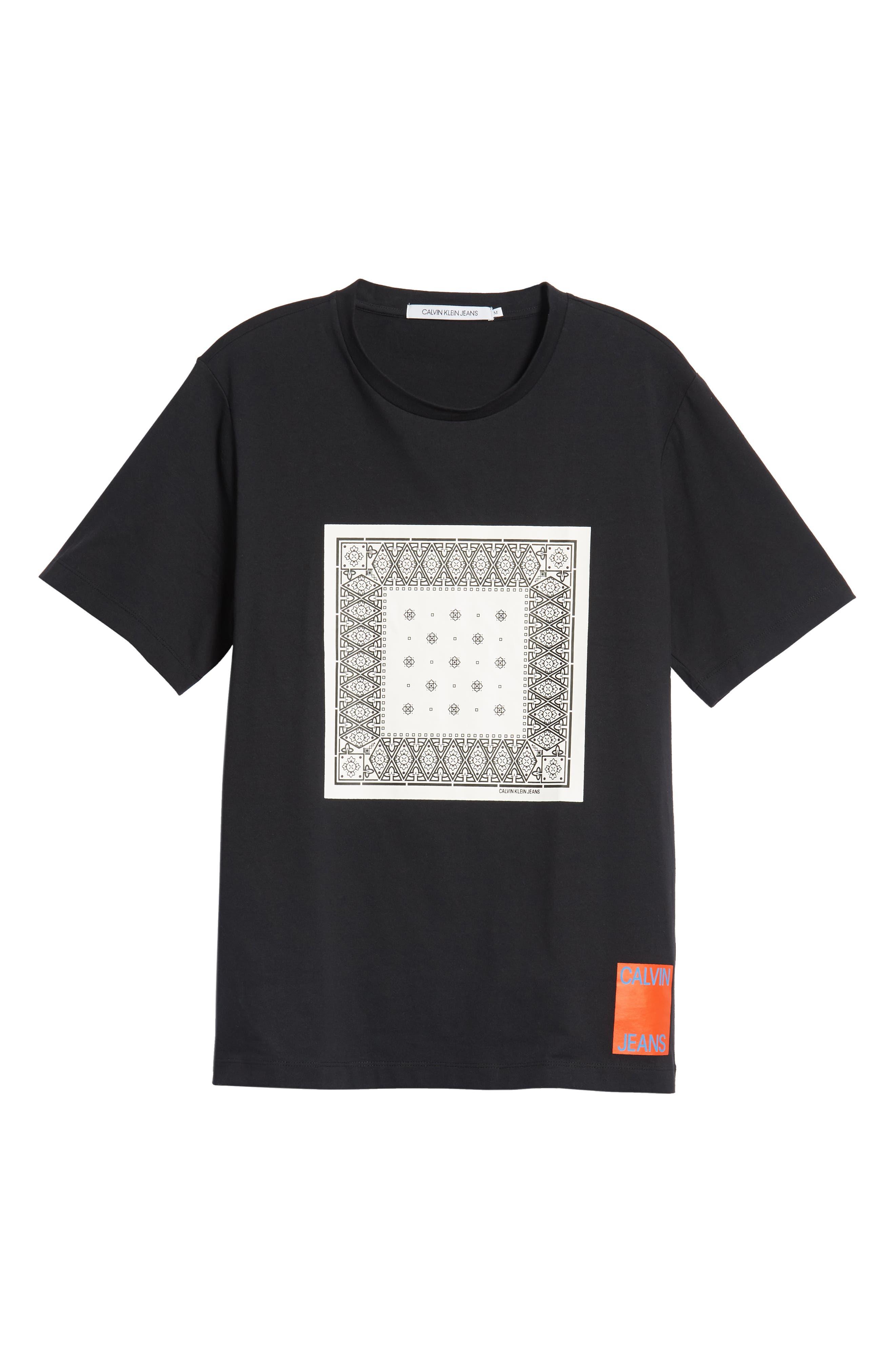 Bandanna Graphic T-Shirt,                             Alternate thumbnail 6, color,                             BLACK