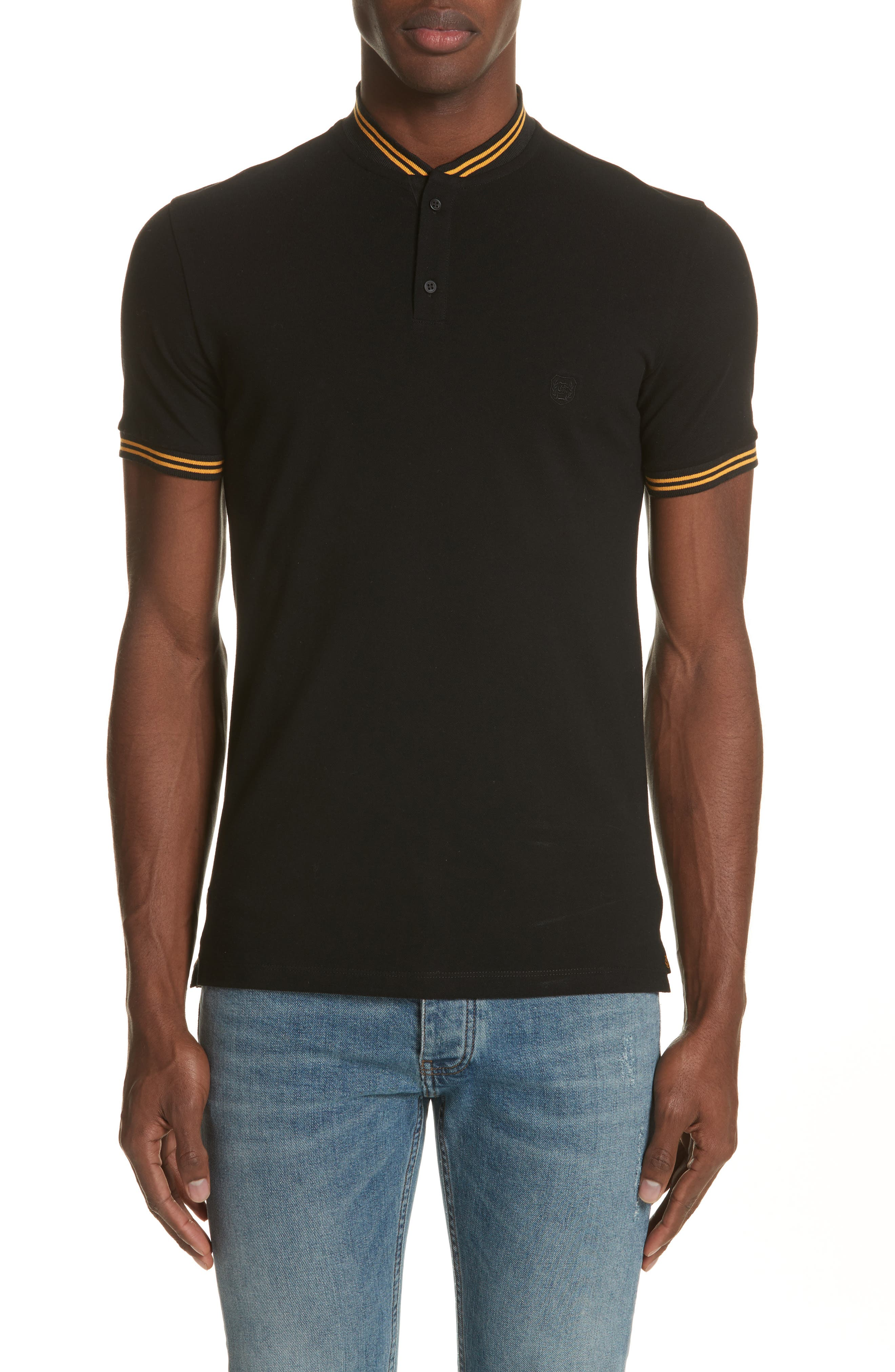 Tipped Polo,                         Main,                         color, 001