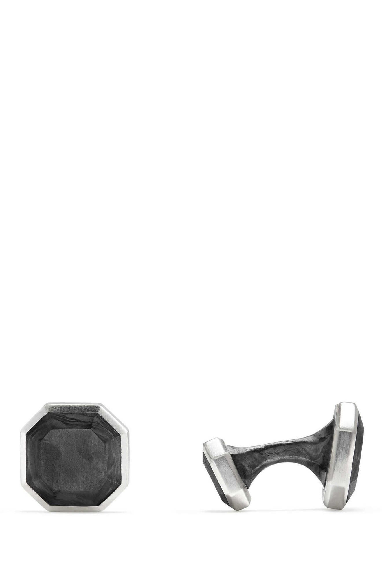 Forged Carbon Cuff Links,                             Alternate thumbnail 2, color,                             029