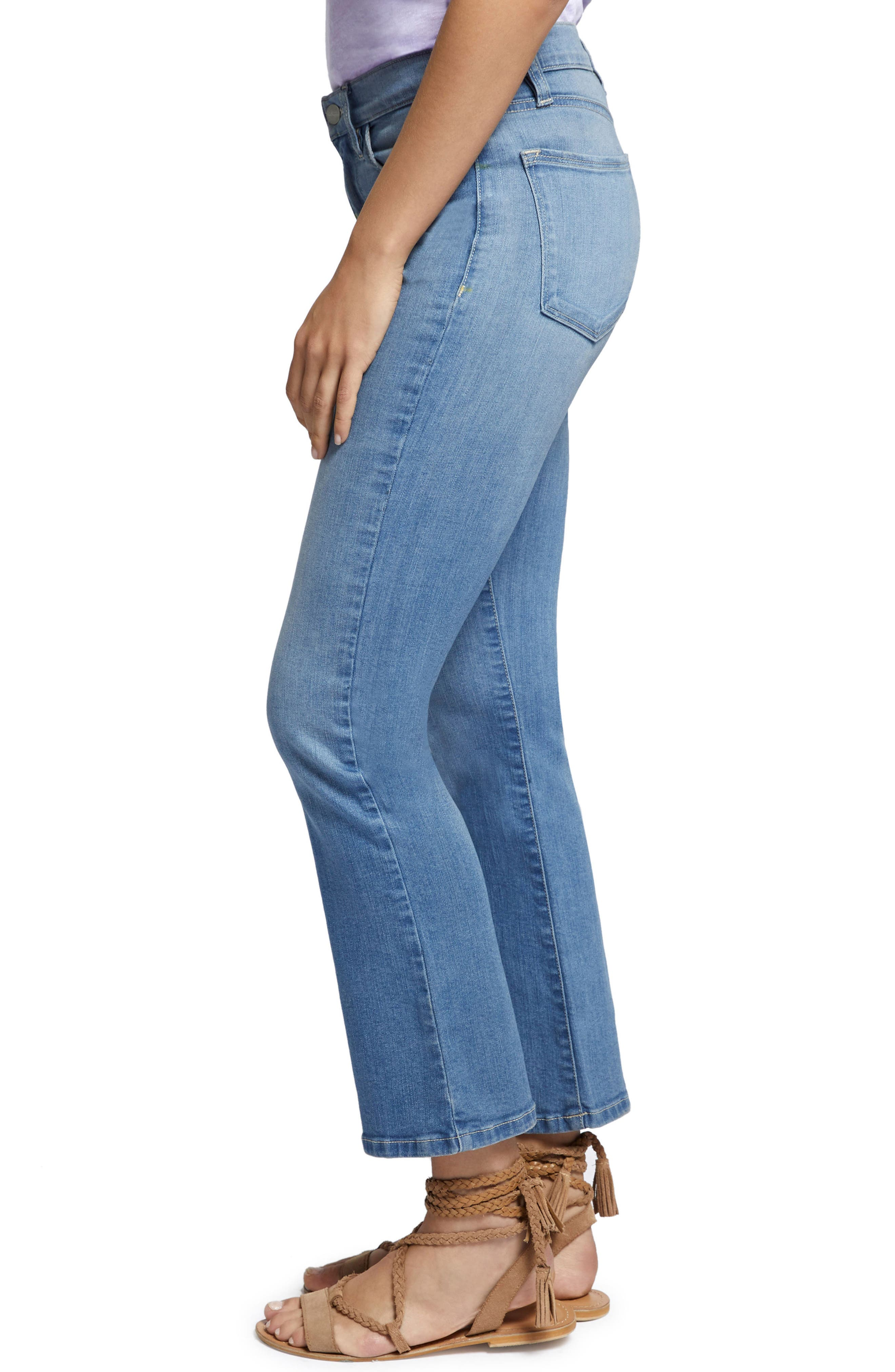 Robbie Crop Flare Jeans,                             Alternate thumbnail 6, color,