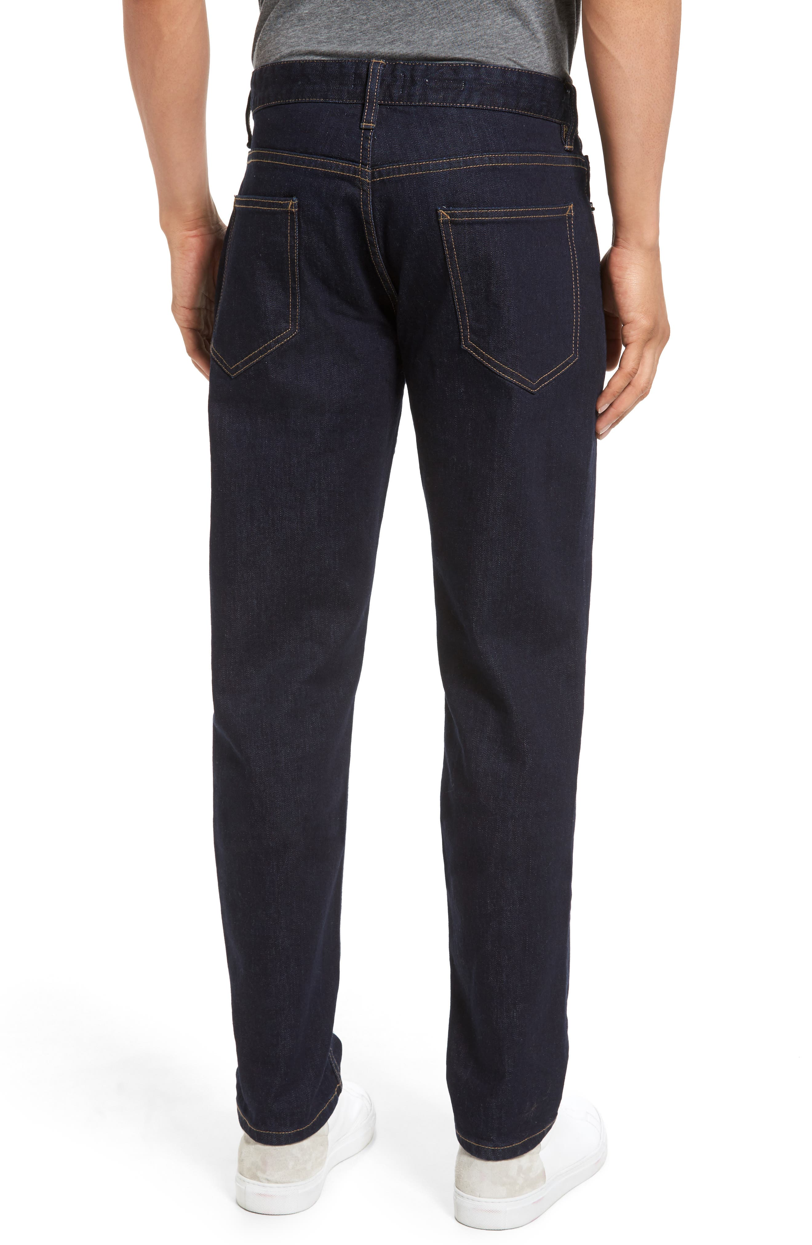 Stretch Slim Fit Raw Denim Jeans,                             Alternate thumbnail 2, color,                             400