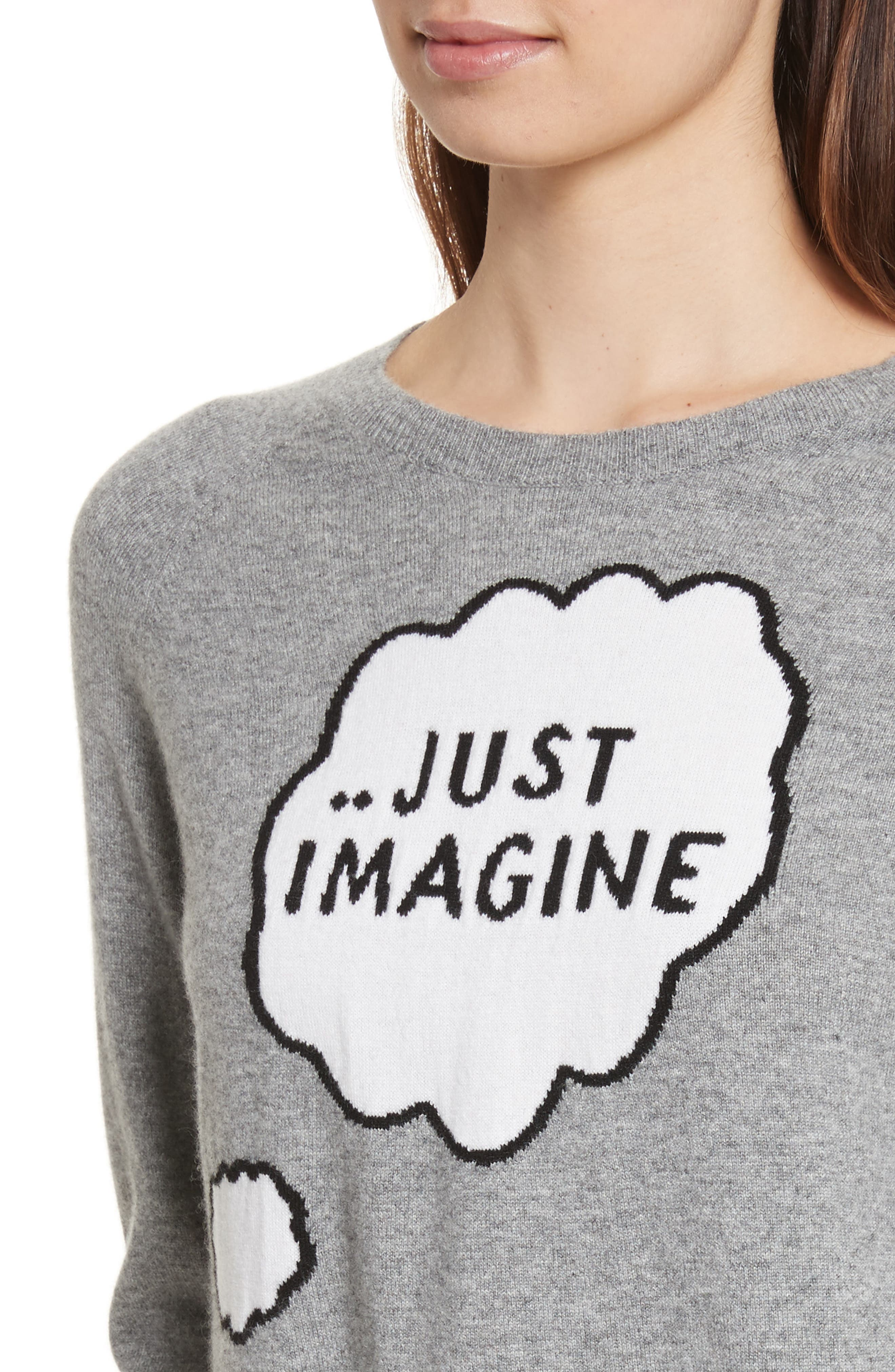 CHINTI & PARKER Just Imagine Moomin Cashmere Sweater,                             Alternate thumbnail 4, color,                             020