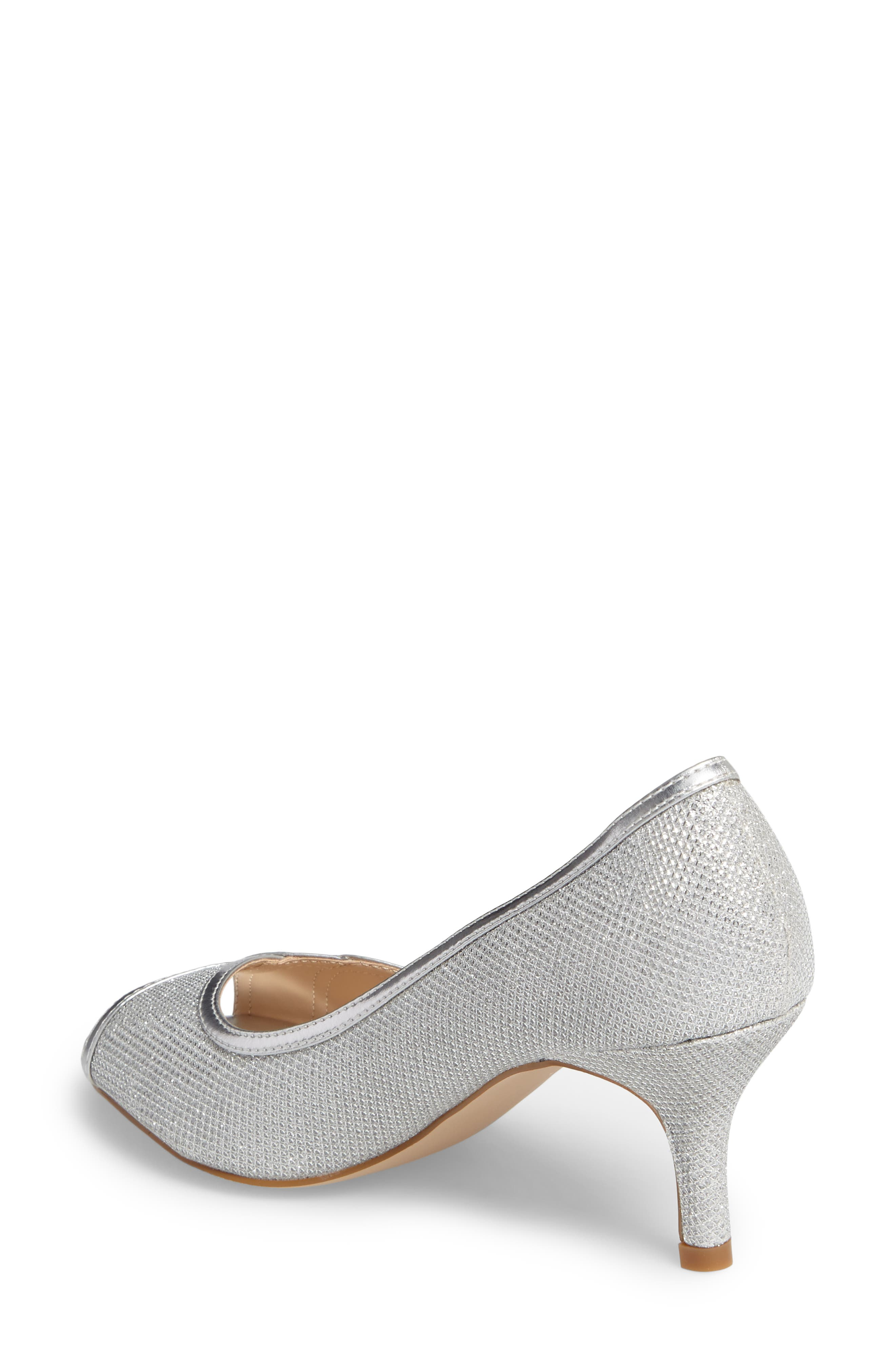 Chester Peep Toe Pump,                             Alternate thumbnail 2, color,                             SILVER