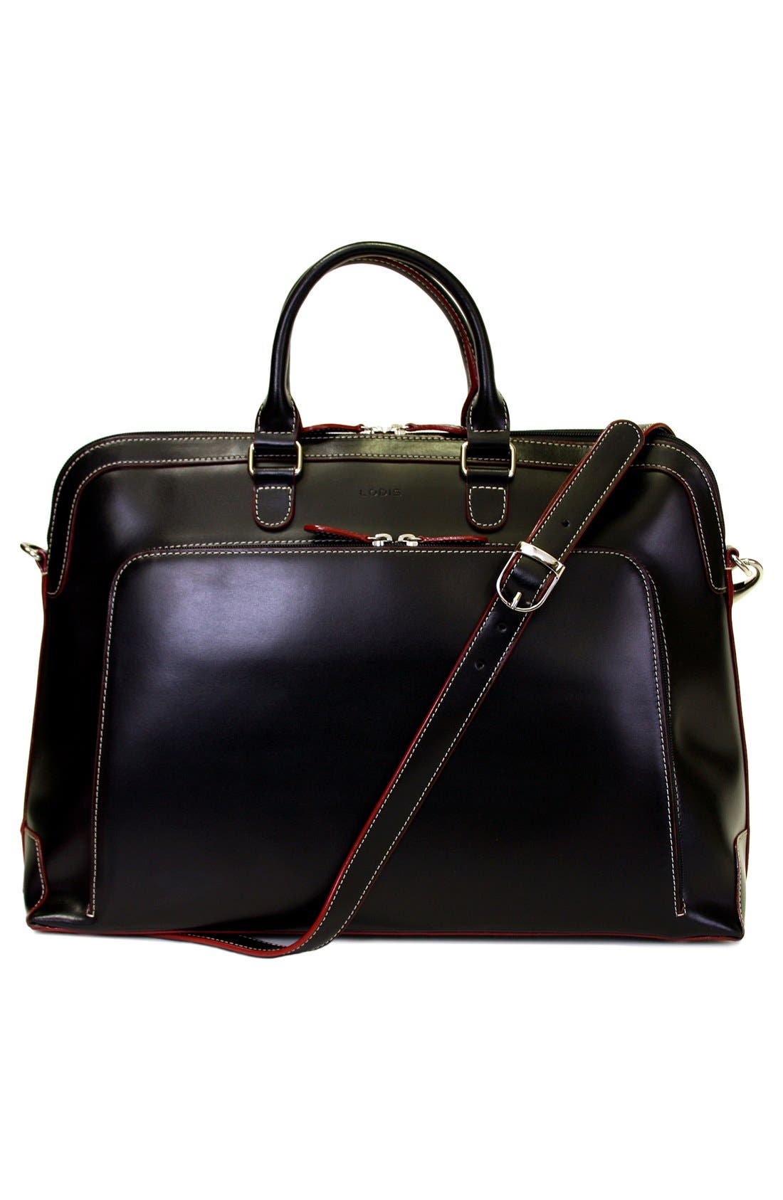 Lodis 'Audrey Brera' Leather Briefcase,                             Alternate thumbnail 7, color,                             001