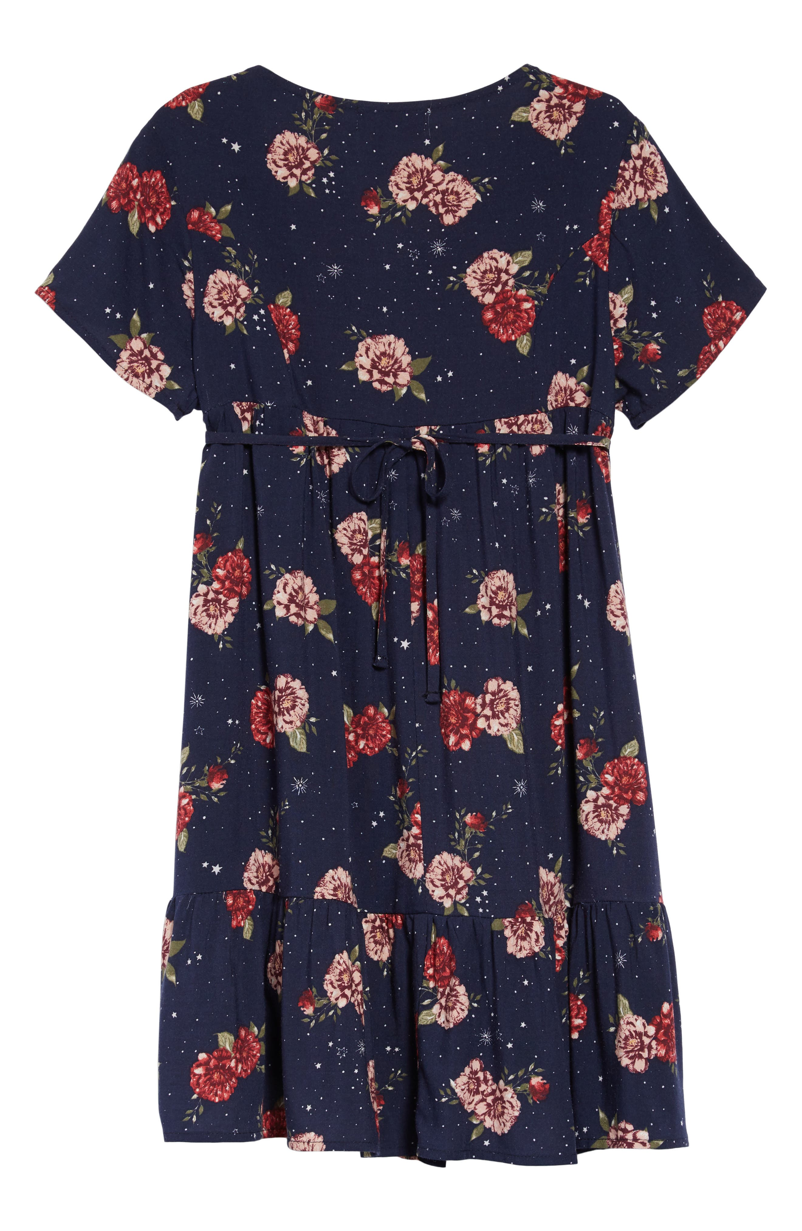 Cosmic Floral Dress,                             Alternate thumbnail 2, color,                             NAVY FLORAL