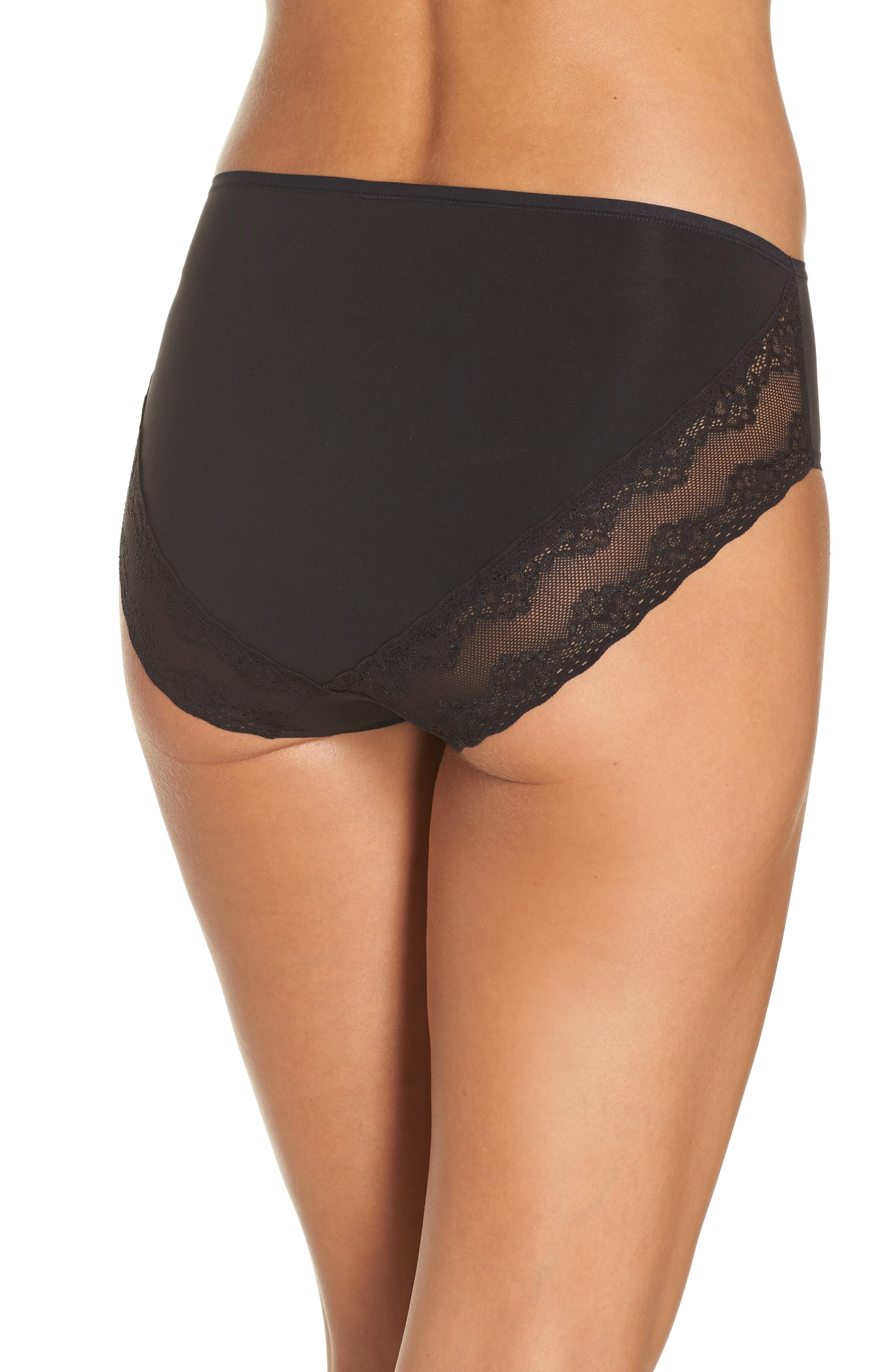 Bliss Perfection French Cut Briefs,                             Alternate thumbnail 2, color,                             BLACK