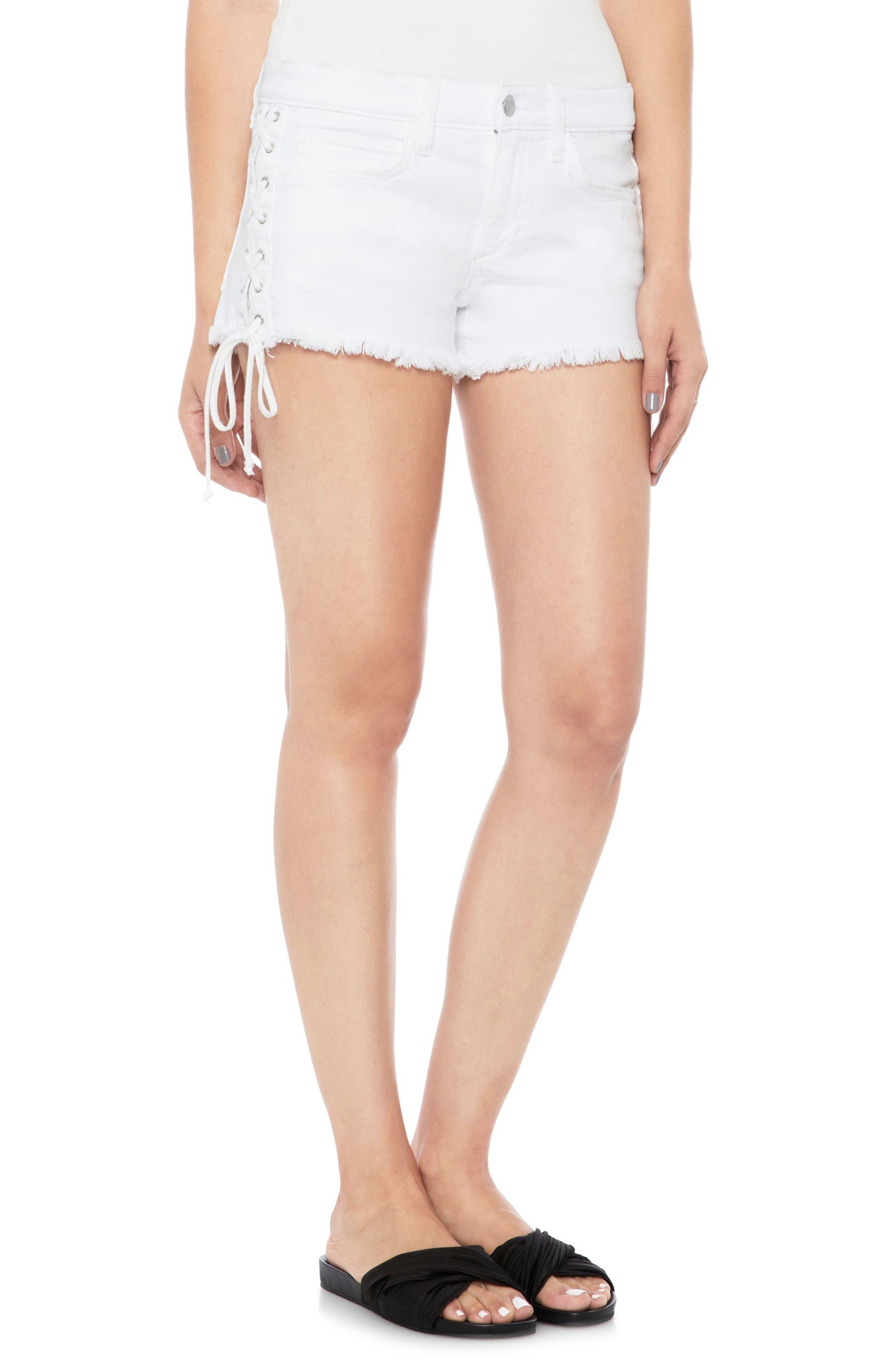Boyfriend Cutoff Denim Shorts,                         Main,                         color, 100