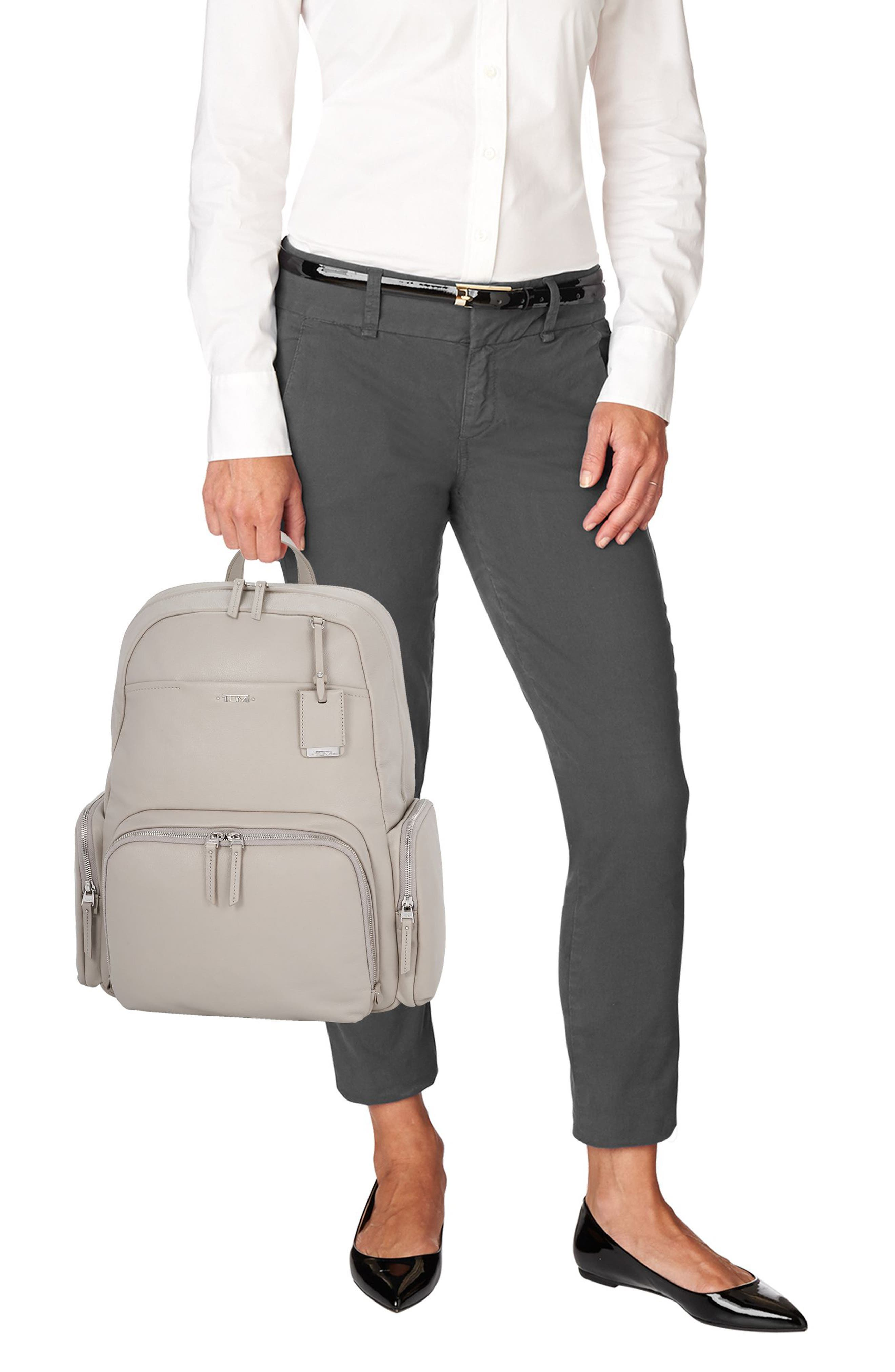 Calais Leather Computer Backpack,                             Alternate thumbnail 4, color,