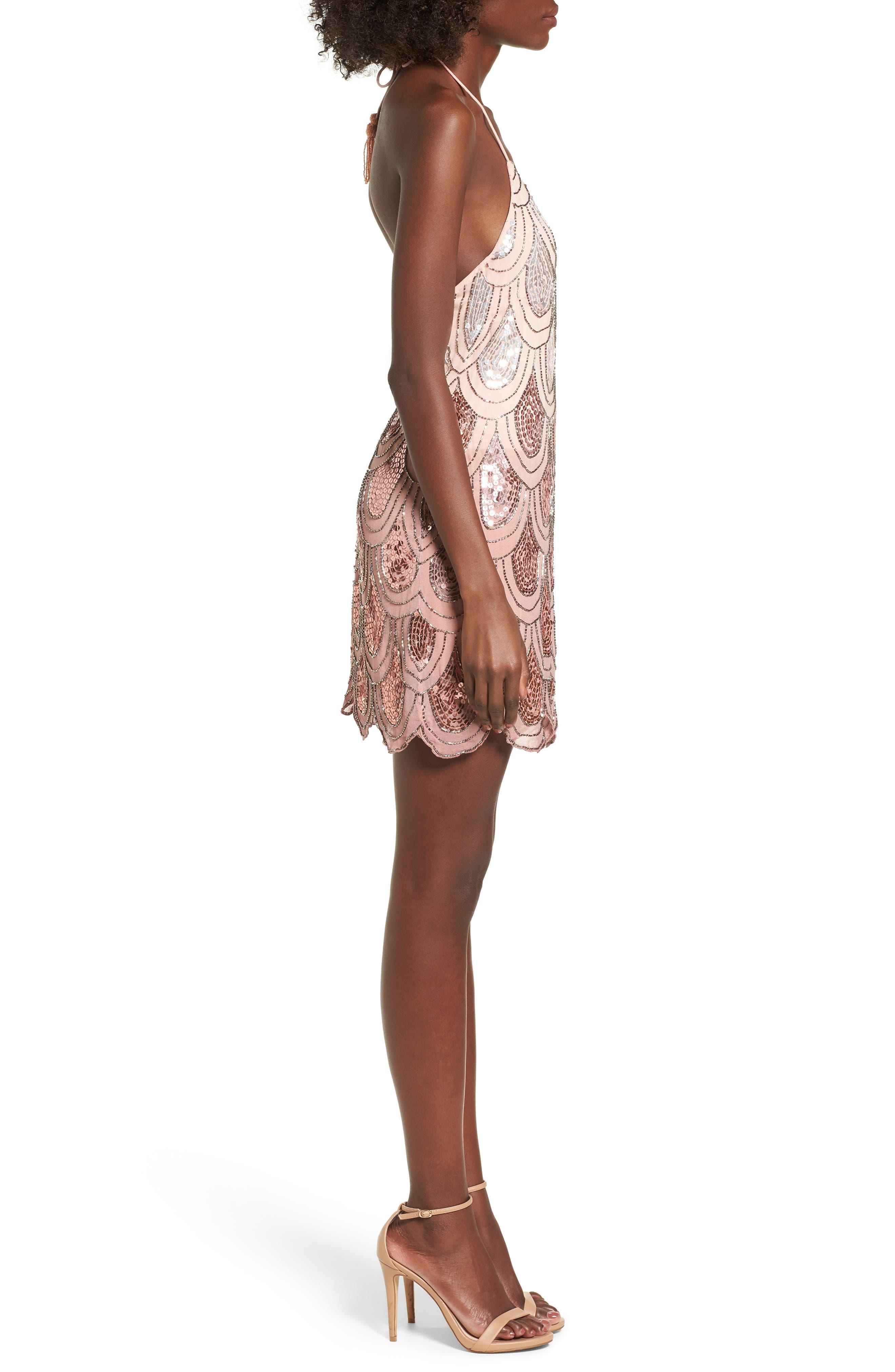 Dame Sequin Minidress,                             Alternate thumbnail 6, color,
